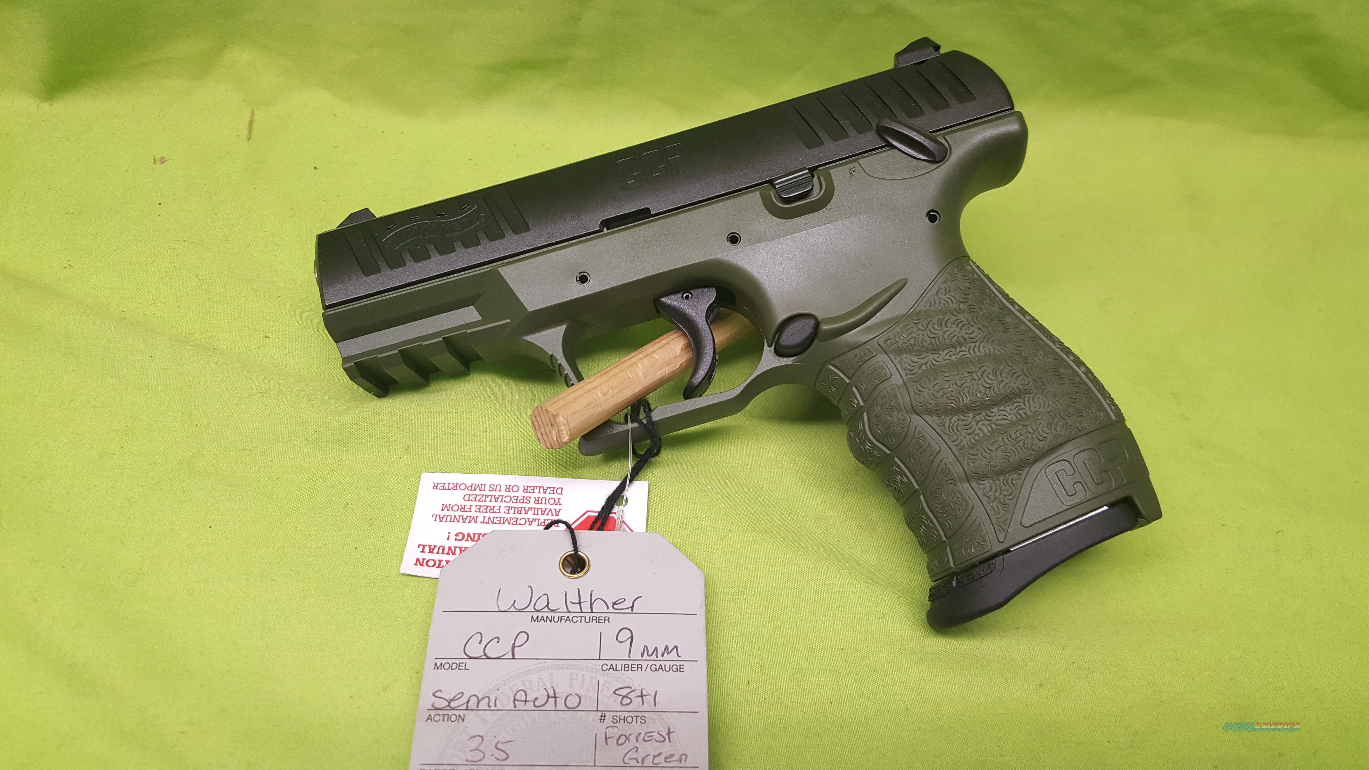 WALTHER CCP 9MM 9 MM 8RD FORREST GREEN 5080311  Guns > Pistols > Walther Pistols > Post WWII > PPS