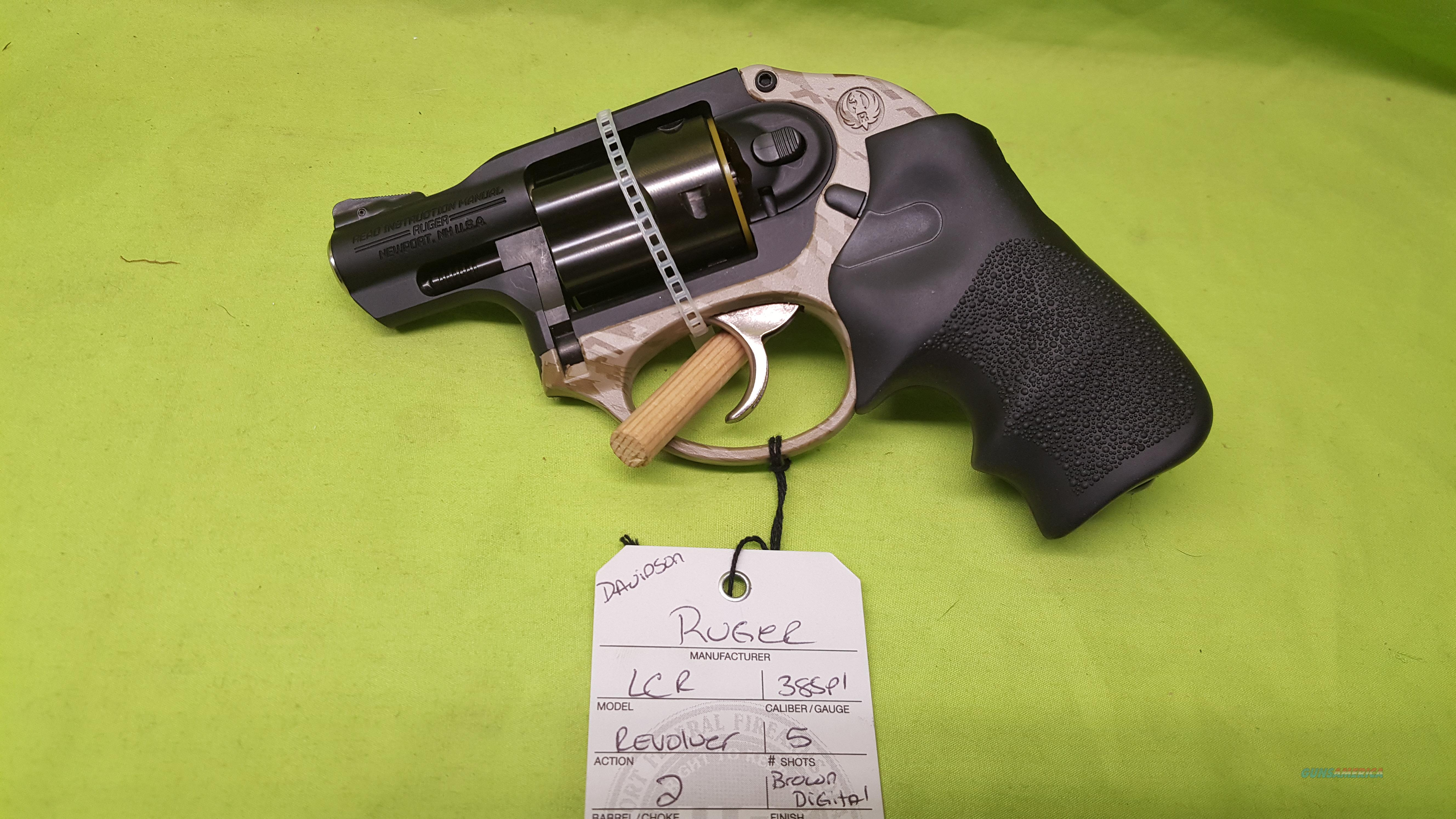 RUGER LCR 38 38SPL BROWN DIGITAL REVOLVER 5RD 5426  Guns > Pistols > Ruger Double Action Revolver > LCR