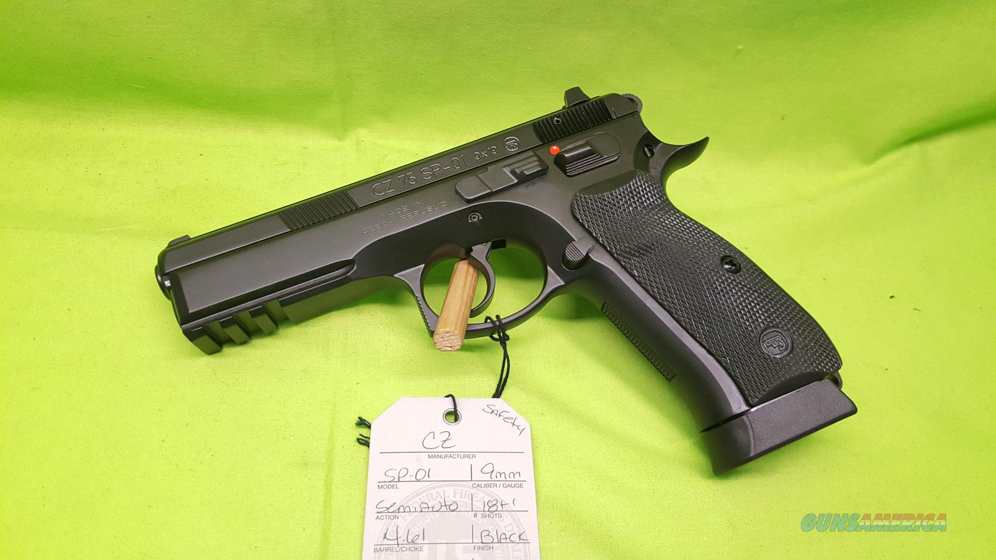CZ SP-01 SP 01 9MM 18+1 NS 4.6 RAIL SAFETY 91152  Guns > Pistols > CZ Pistols