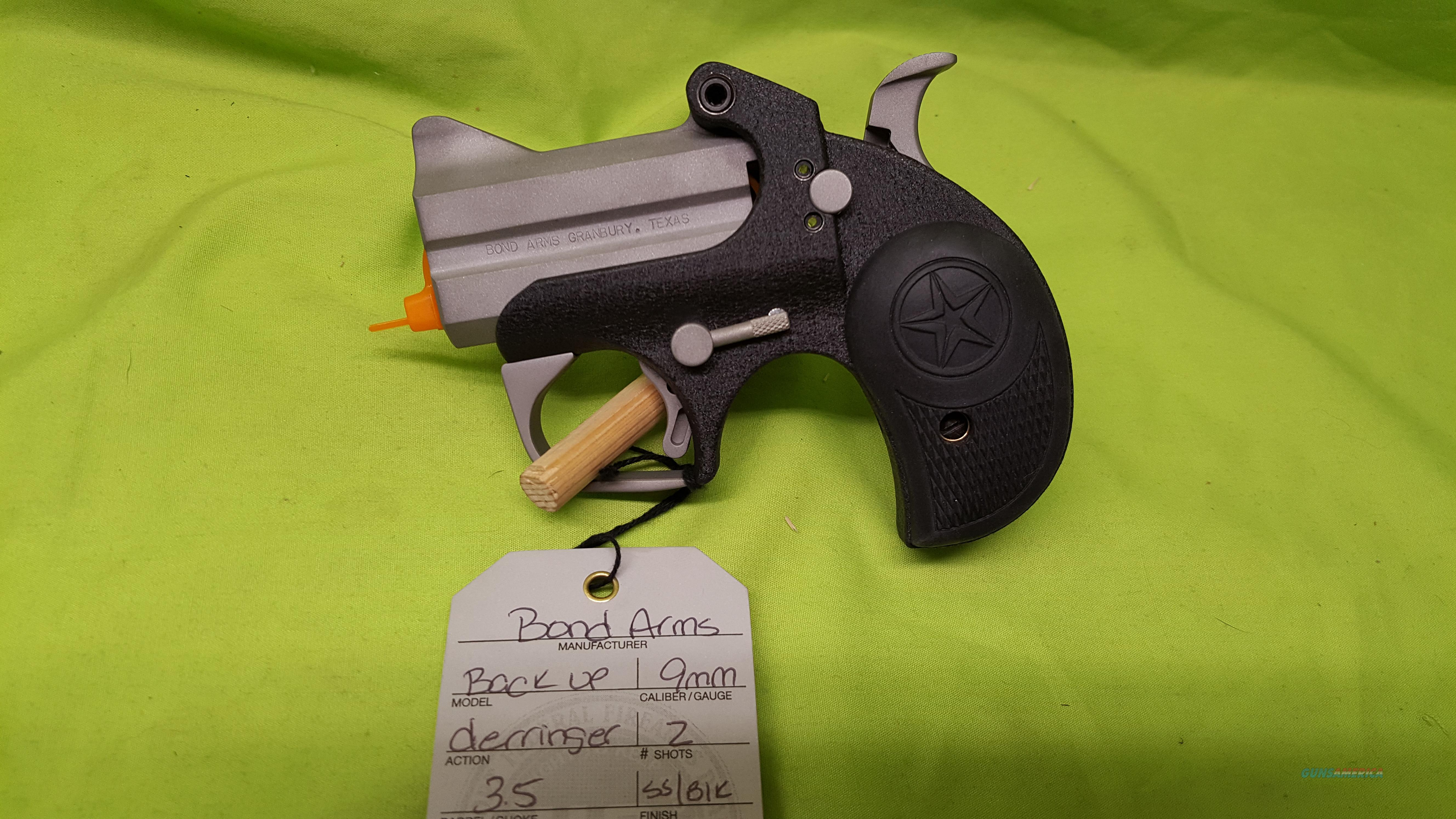 "BOND ARMS BACK UP 9MM 9 MM 2.5"" DERRINGER  Guns > Pistols > Bond Derringers"
