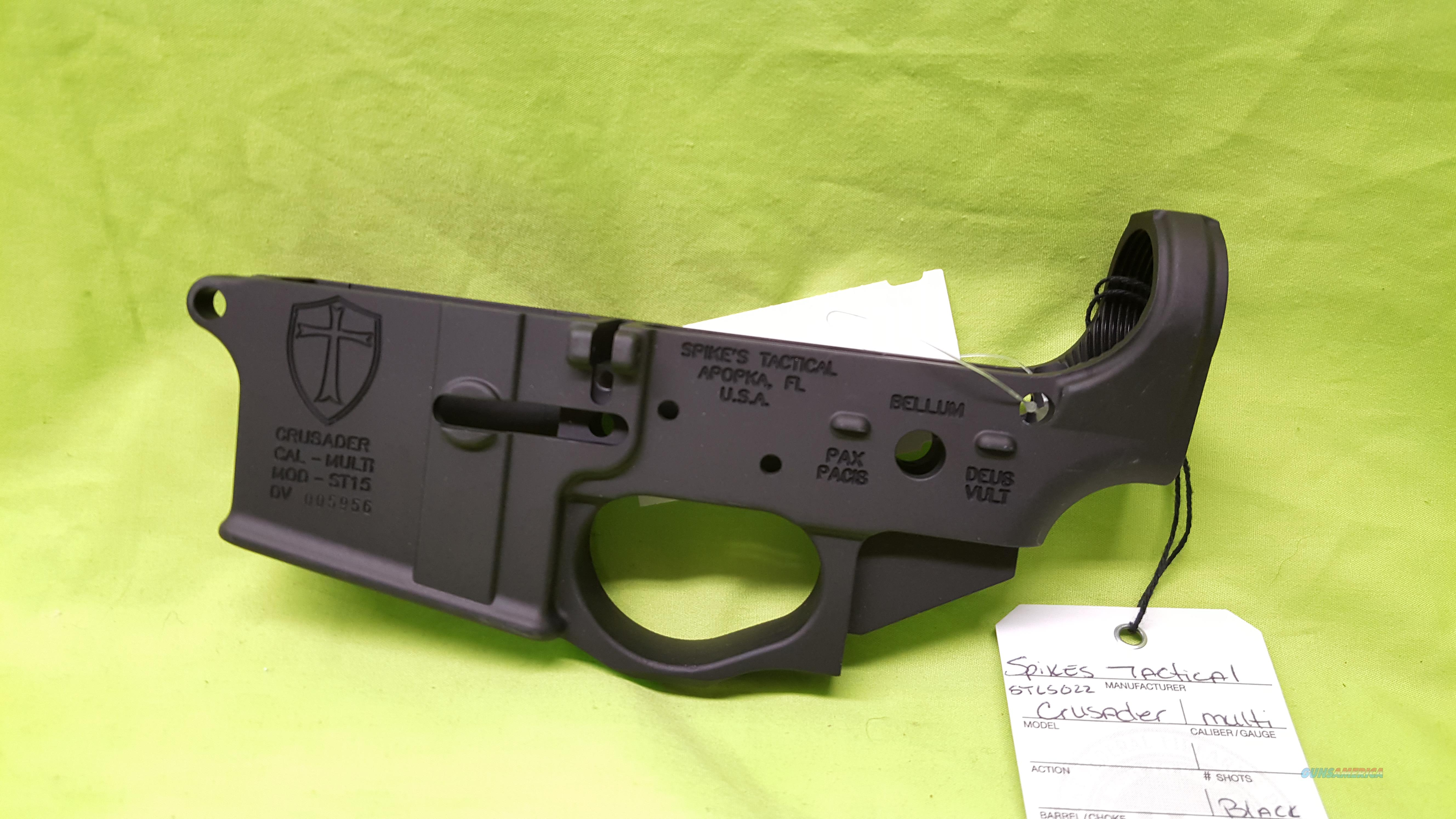SPIKES STRIPPED LOWER CRUSADER AR 15 5.56 .223 MULTI  Guns > Rifles > AR-15 Rifles - Small Manufacturers > Lower Only