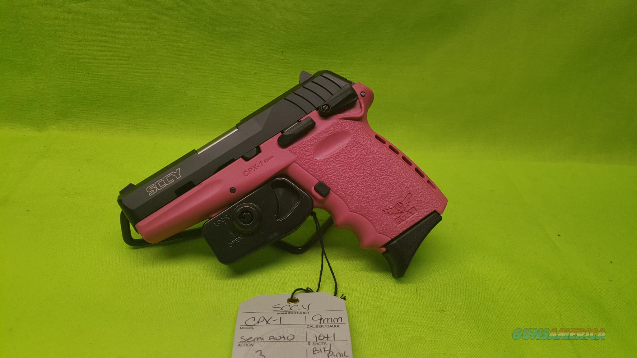 SCCY CPX-1 CPX 1 CPX1 9 9MM 10RD BLK/ PINK 2MAGS  Guns > Pistols > SCCY Pistols > CPX1