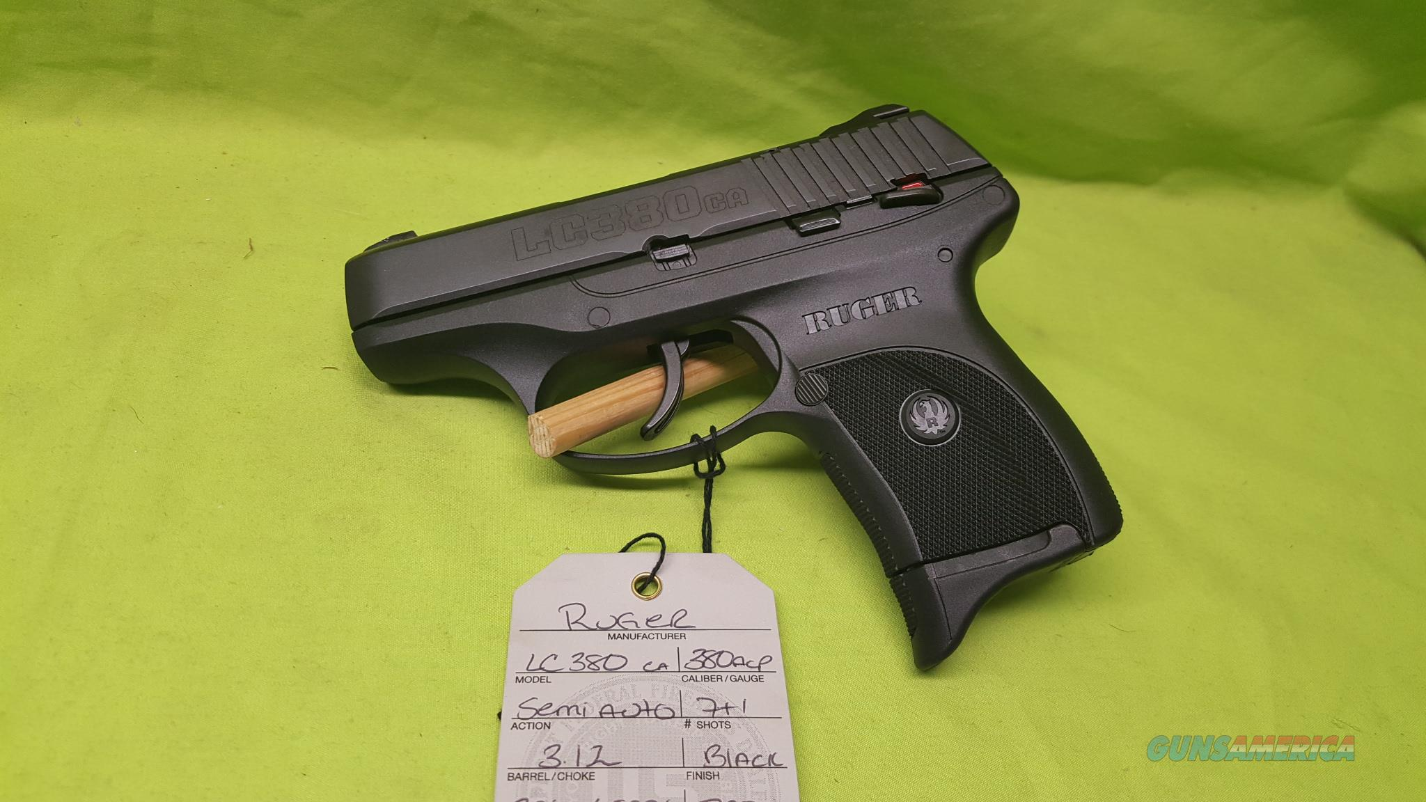 RUGER LC380CA LC380 CA LC 380 ACP BLK 7RD 3253  Guns > Pistols > Ruger Semi-Auto Pistols > LCP