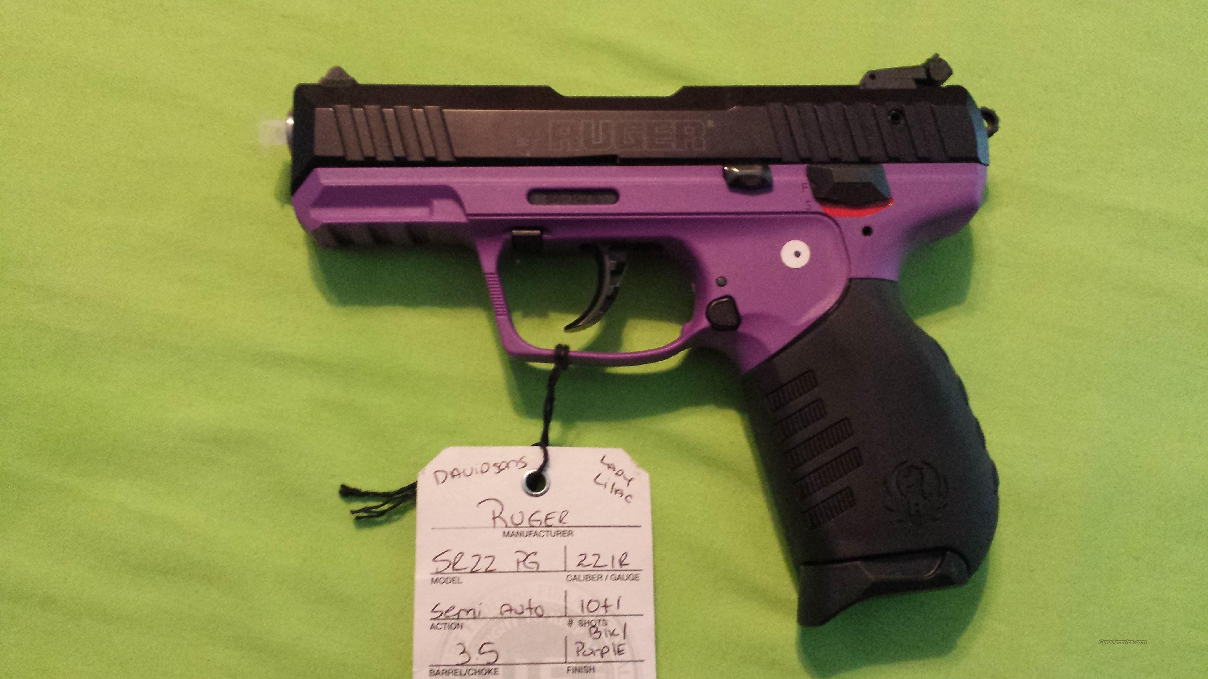 Ruger SR22-PG 22LR 22 Lady Lilac Talo Edition Purple  Guns > Pistols > Ruger Semi-Auto Pistols > SR Family > SR22