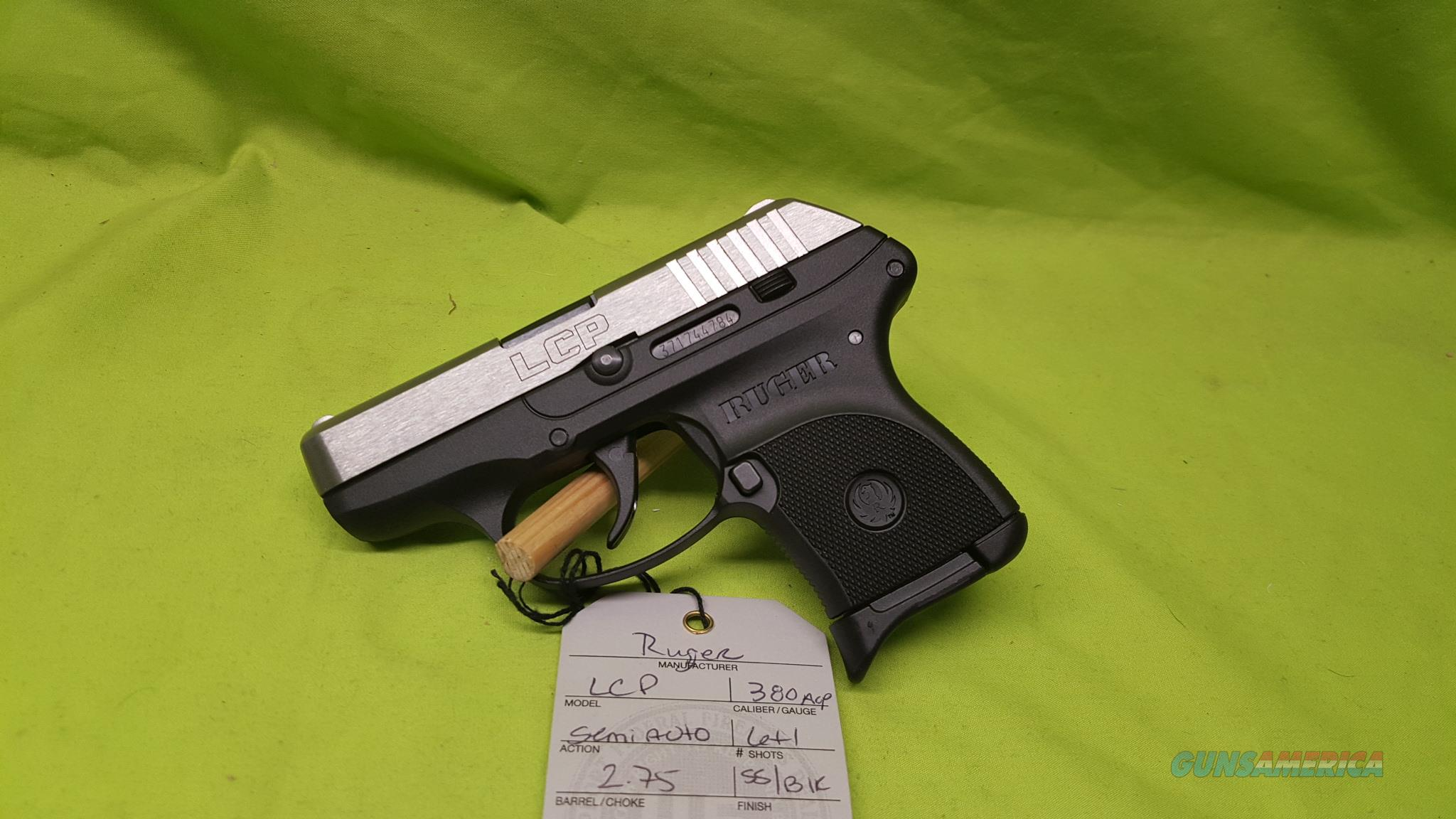 RUGER LCP STAINLESS SS 380 ACP 6RD 3730  Guns > Pistols > Ruger Semi-Auto Pistols > LCP