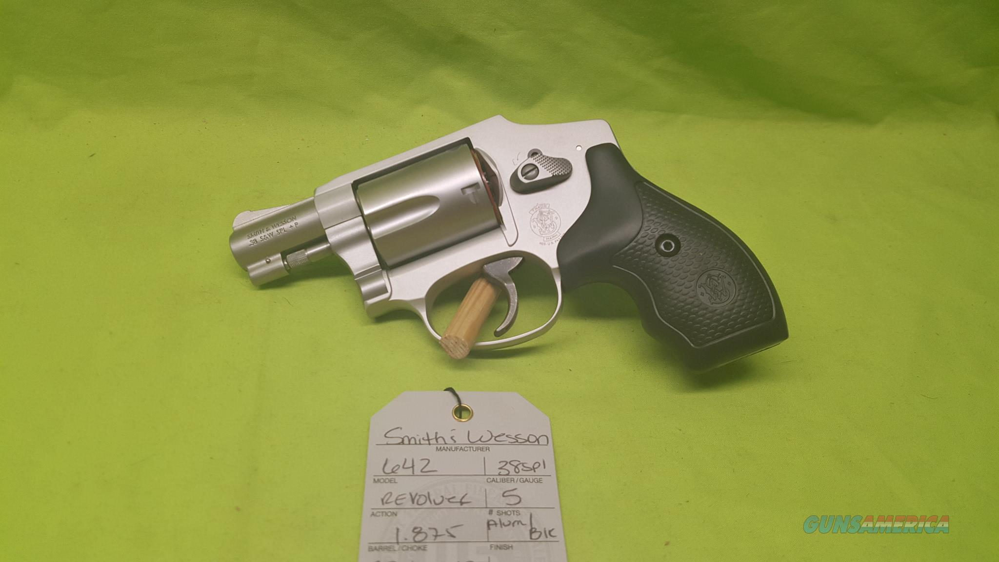 SMITH & WESSON S&W 642 HAMMERLESS 38 SPL +P AIRWEIGHT  Guns > Pistols > Smith & Wesson Revolvers > Pocket Pistols