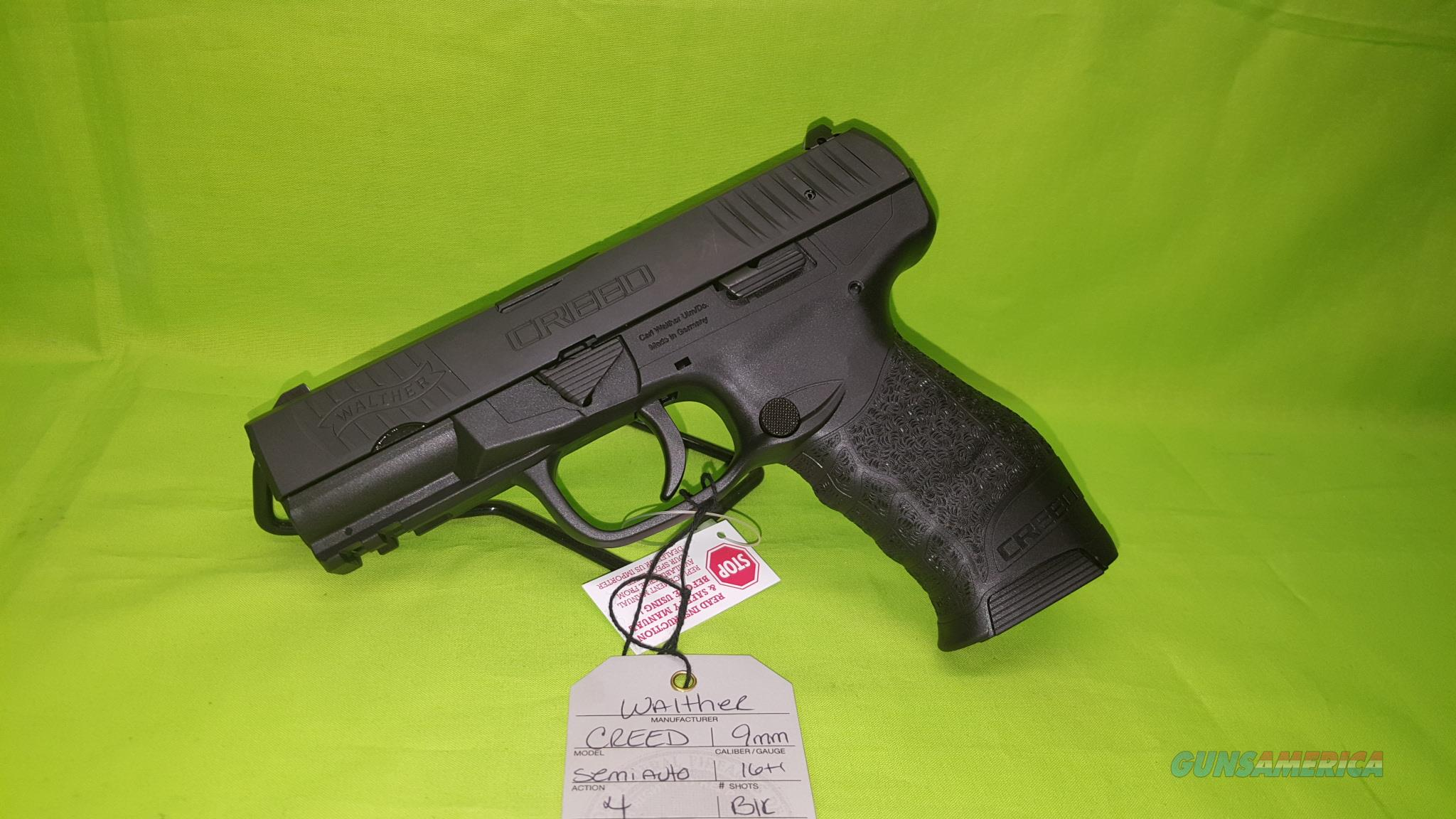 "WALTHER CREED 9MM 9 MM 16+1 4"" NEW IN BOX   Guns > Pistols > Walther Pistols > Post WWII > P99/PPQ"