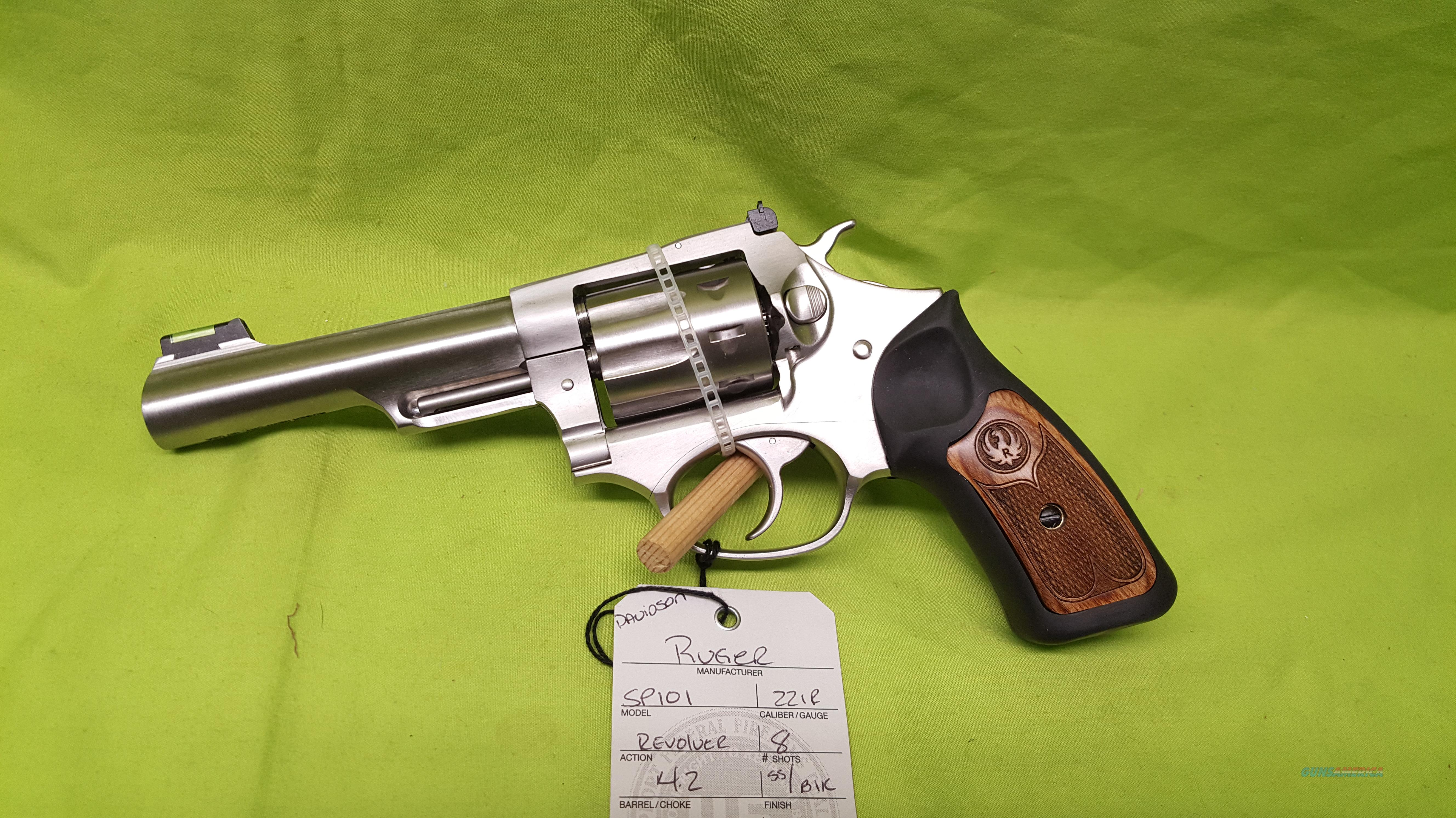 RUGER SP101 SP 101 22 LR REVOLVER 4.2 STAINLESS  Guns > Pistols > Ruger Double Action Revolver > SP101 Type