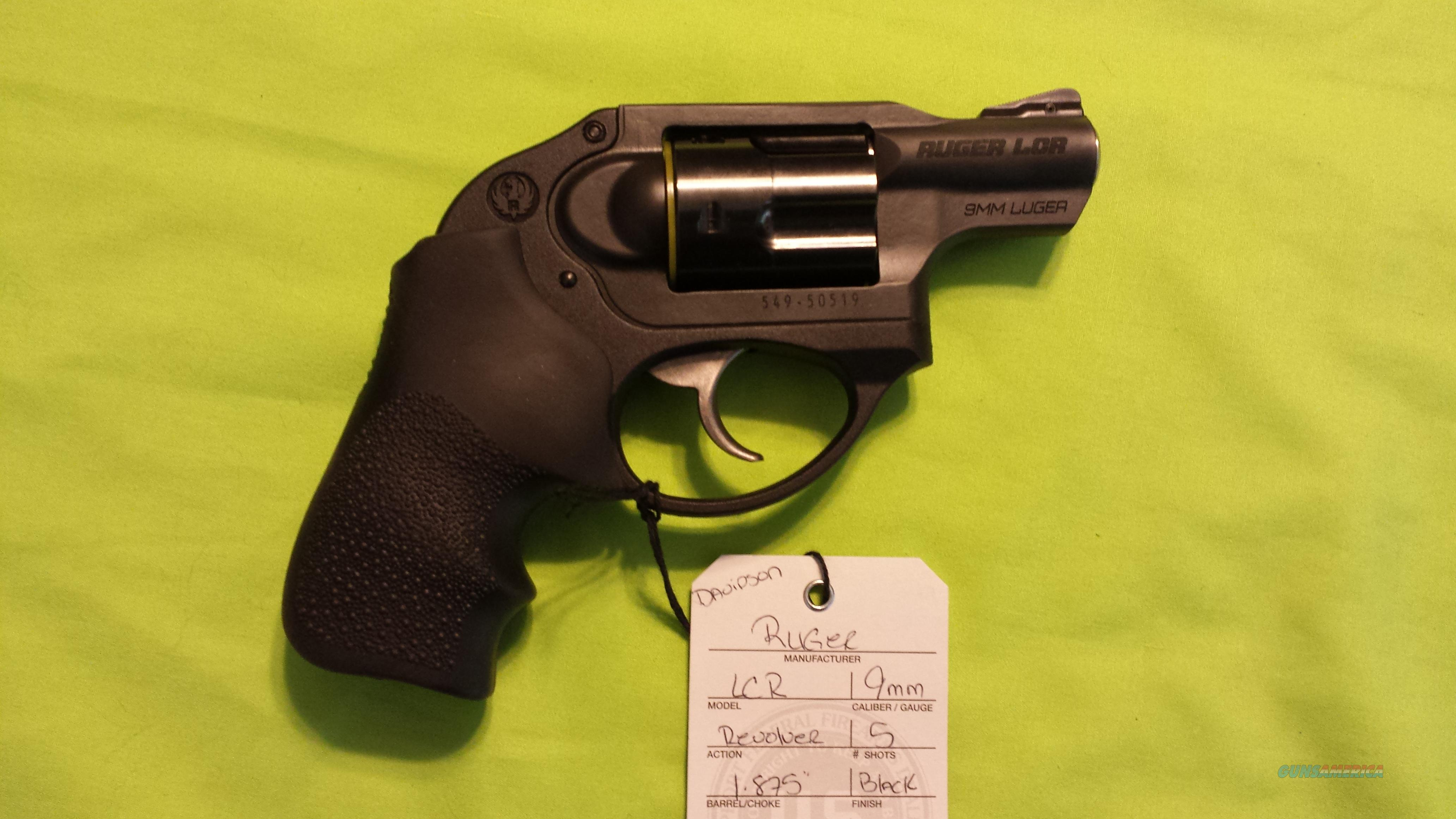 5456 RUGER LCR LCR 9 9MM REVOLVER NEW  Guns > Pistols > Ruger Double Action Revolver > LCR