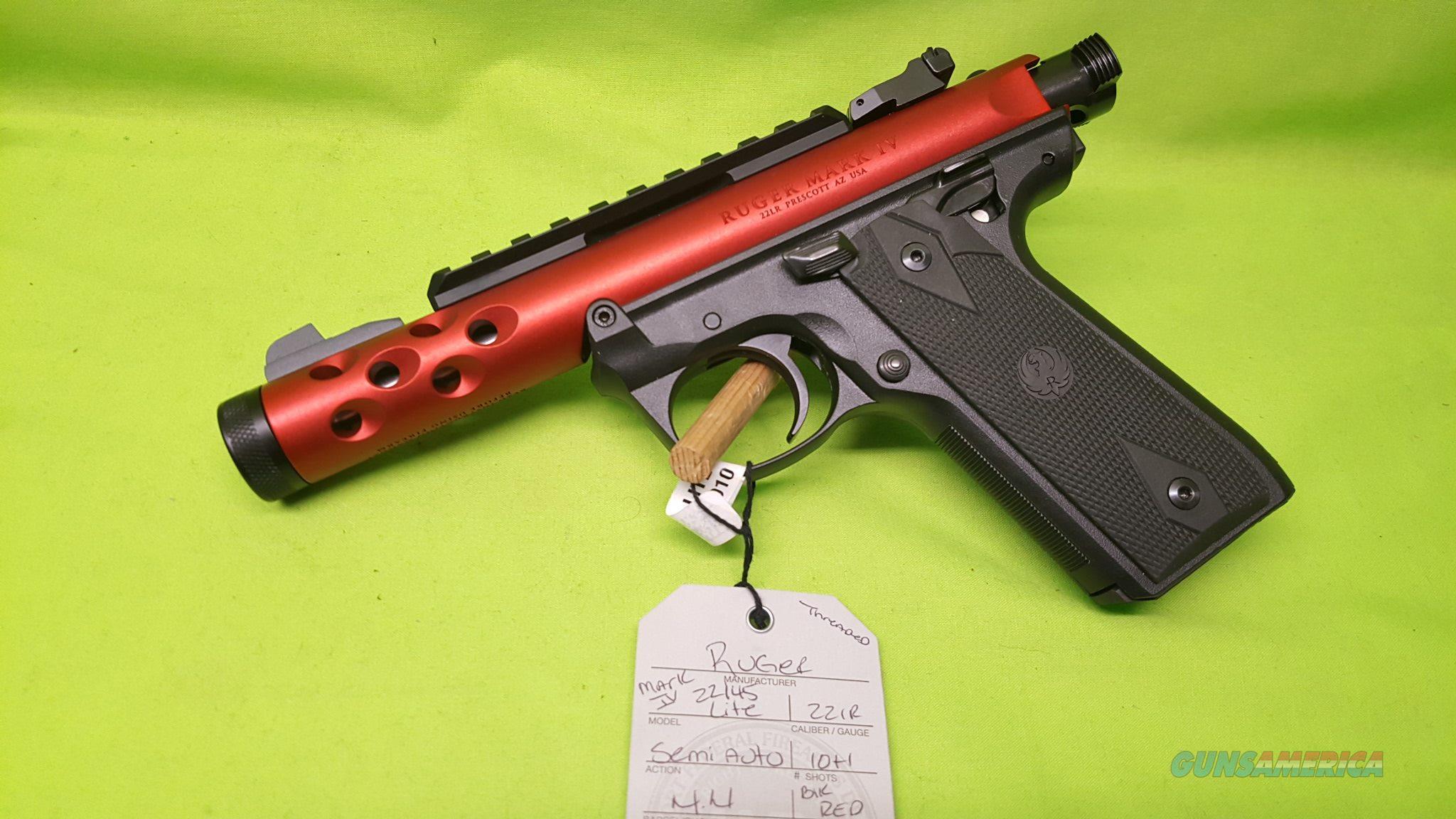 RUGER MARK IV 22 45 22/45 LITE 22LR RED 43910 POST RECALL  Guns > Pistols > Ruger Semi-Auto Pistols > 22/45