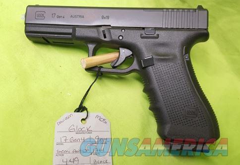 GLOCK 17 GEN 4 9MM 9 MM 17RD MOS RMR RAIL  Guns > Pistols > Glock Pistols > 17