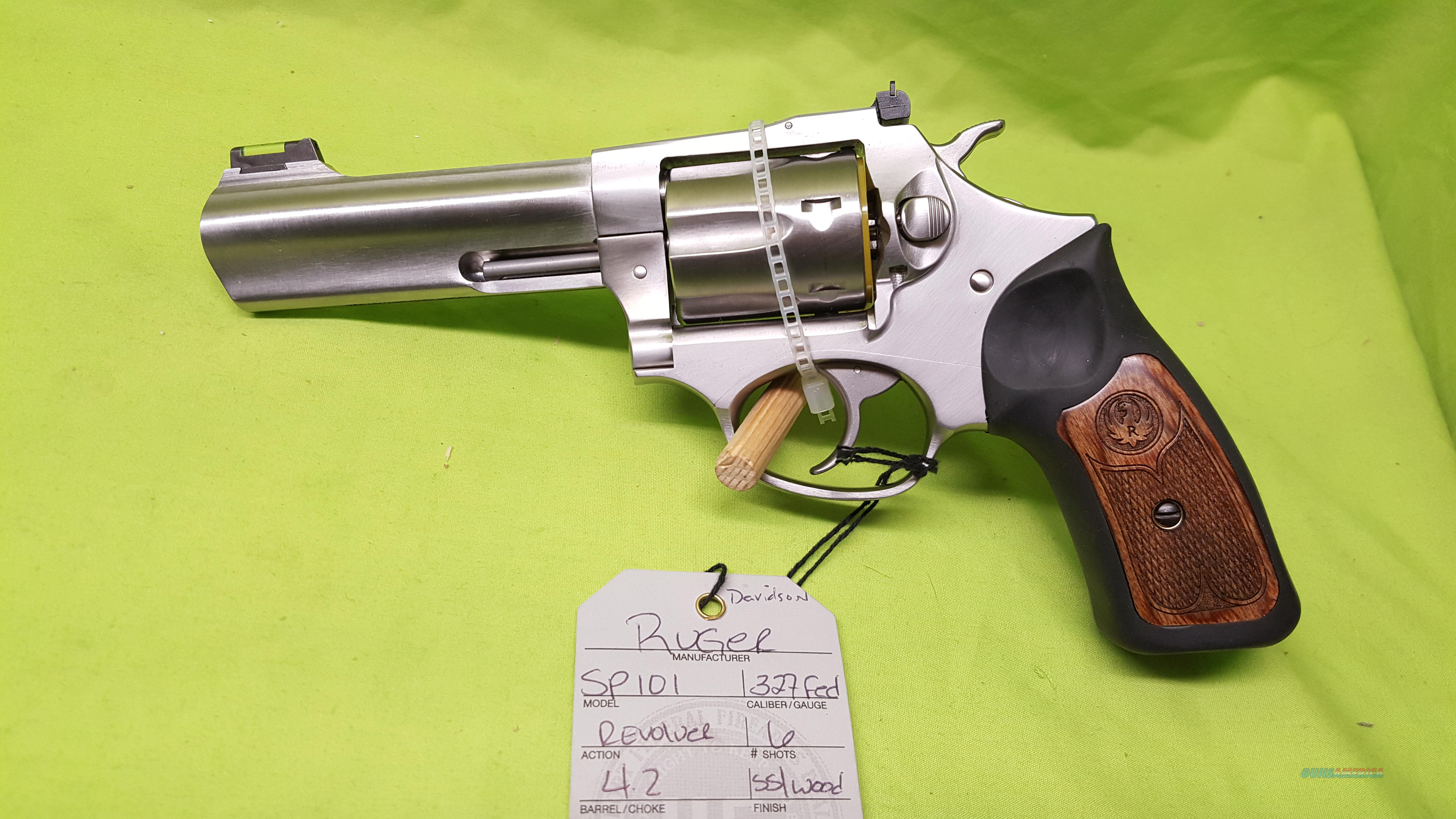 RUGER SP101 SP 101 327 FED REVOLVER 4.2 STAINLESS   Guns > Pistols > Ruger Double Action Revolver > SP101 Type