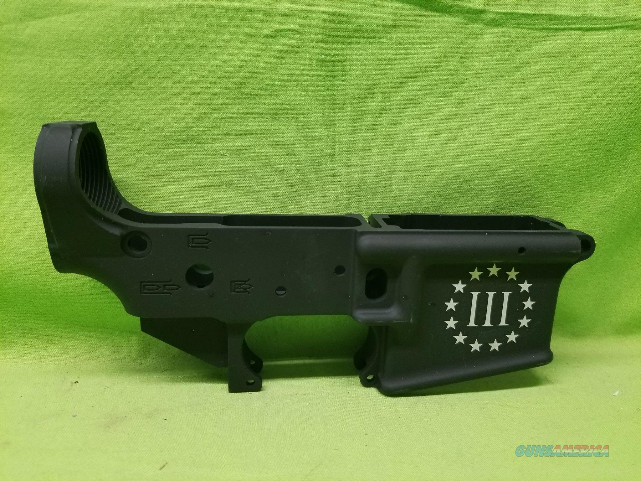 AA TACTICAL TAC-L WING STRIPPED LOWER 3% ETCHED  Guns > Rifles > AR-15 Rifles - Small Manufacturers > Lower Only