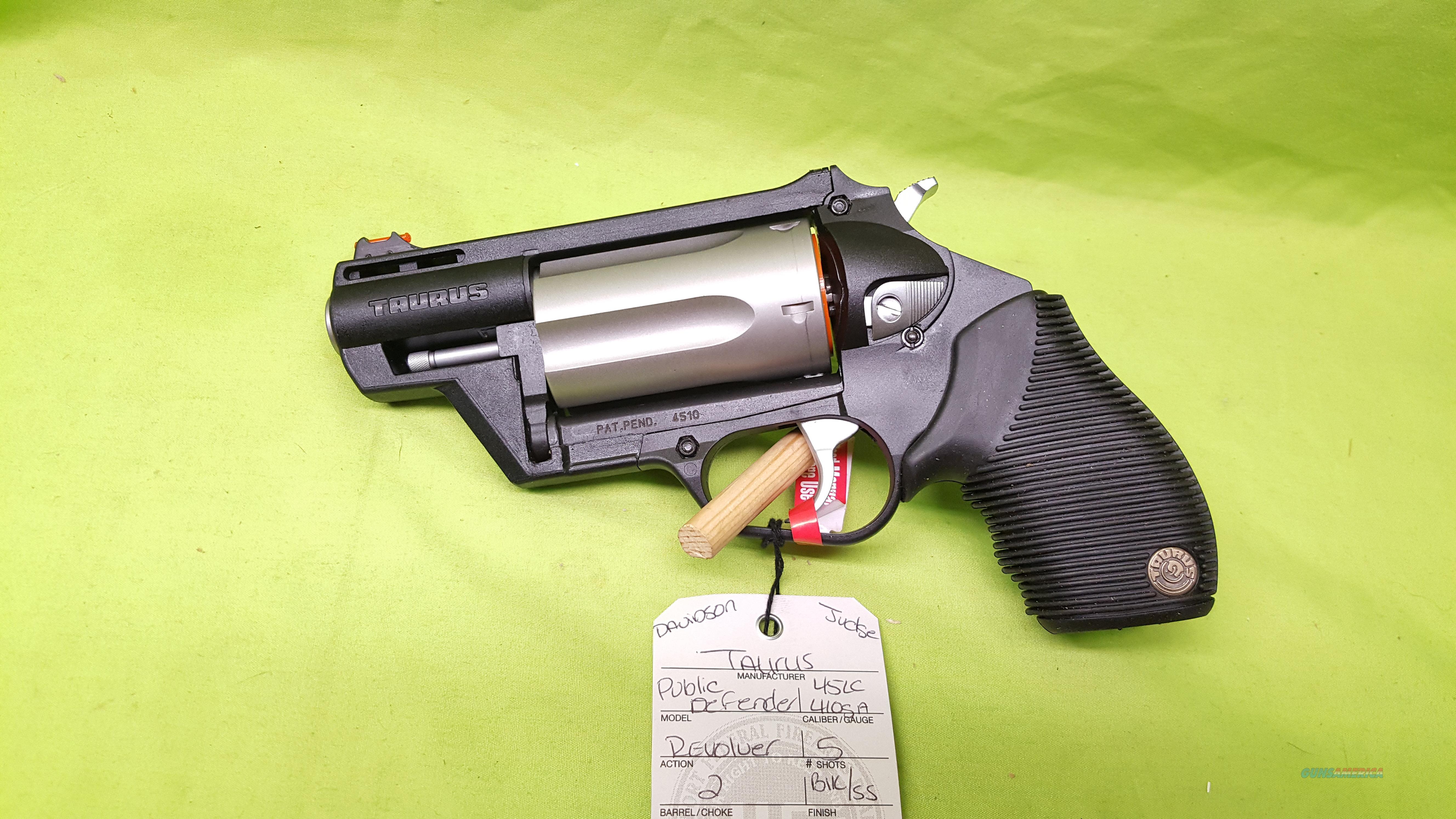 "TAURUS PUBLIC DEFENDER JUDGE 45 LC 410 GA SS 2"" POLY  Guns > Pistols > Taurus Pistols > Revolvers"