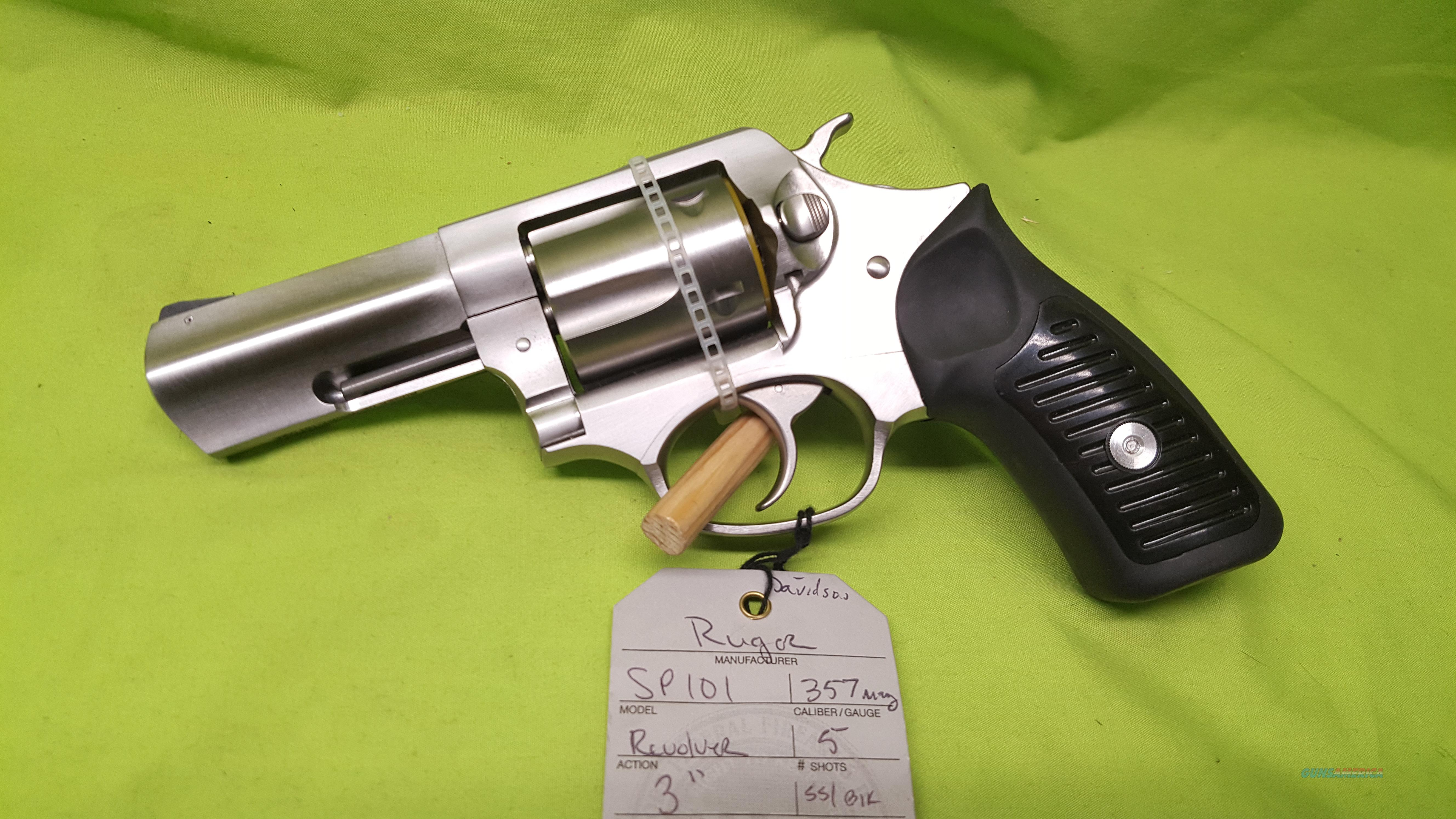 """RUGER SP101 SP 101 357 MAG REVOLVER 3"""" STAINLESS  Guns > Pistols > Ruger Double Action Revolver > SP101 Type"""