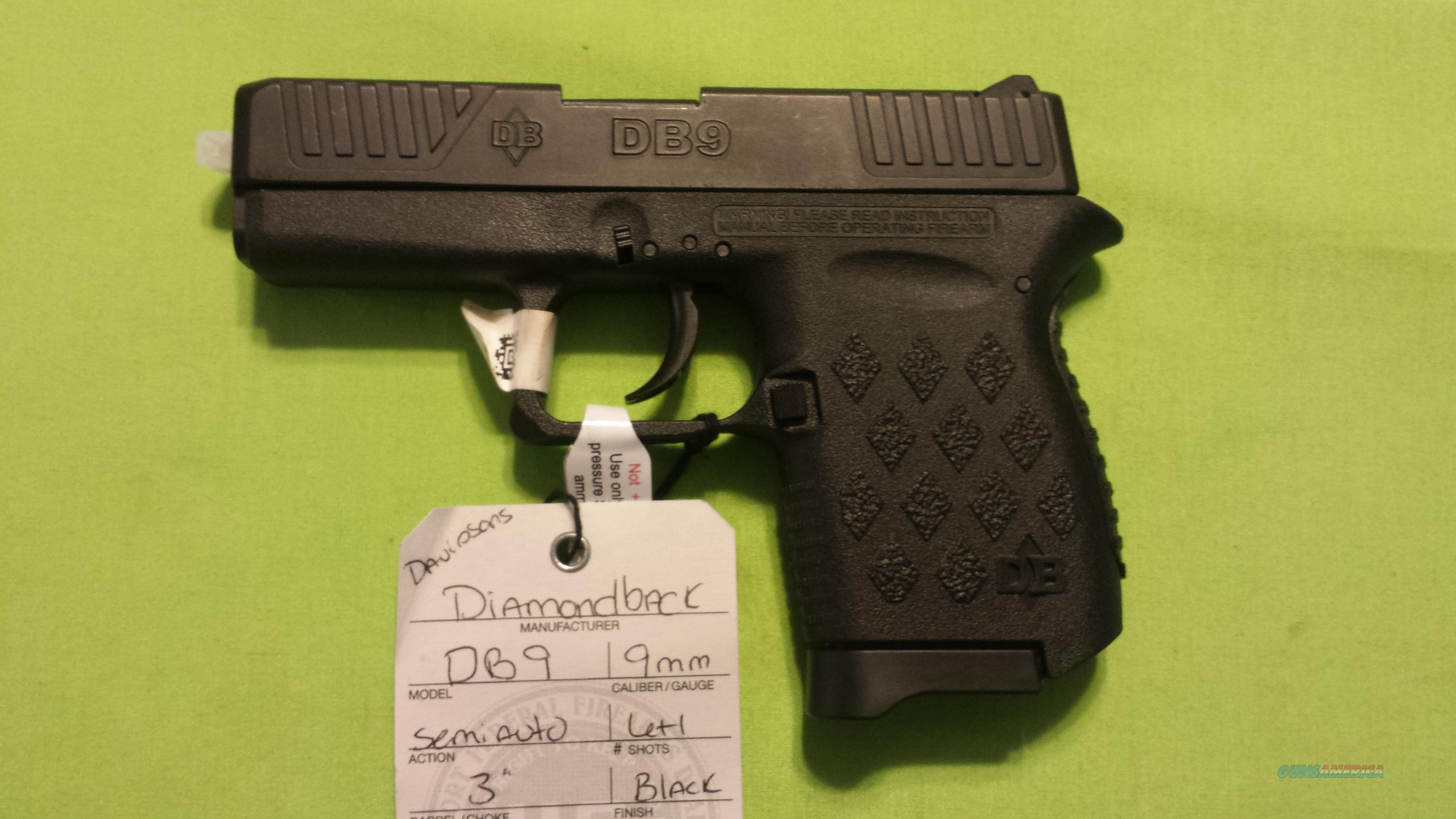 DIAMONDBACK DB9 DB 9 9MM BLACK 6+1 POLYMER  Guns > Pistols > Diamondback Pistols
