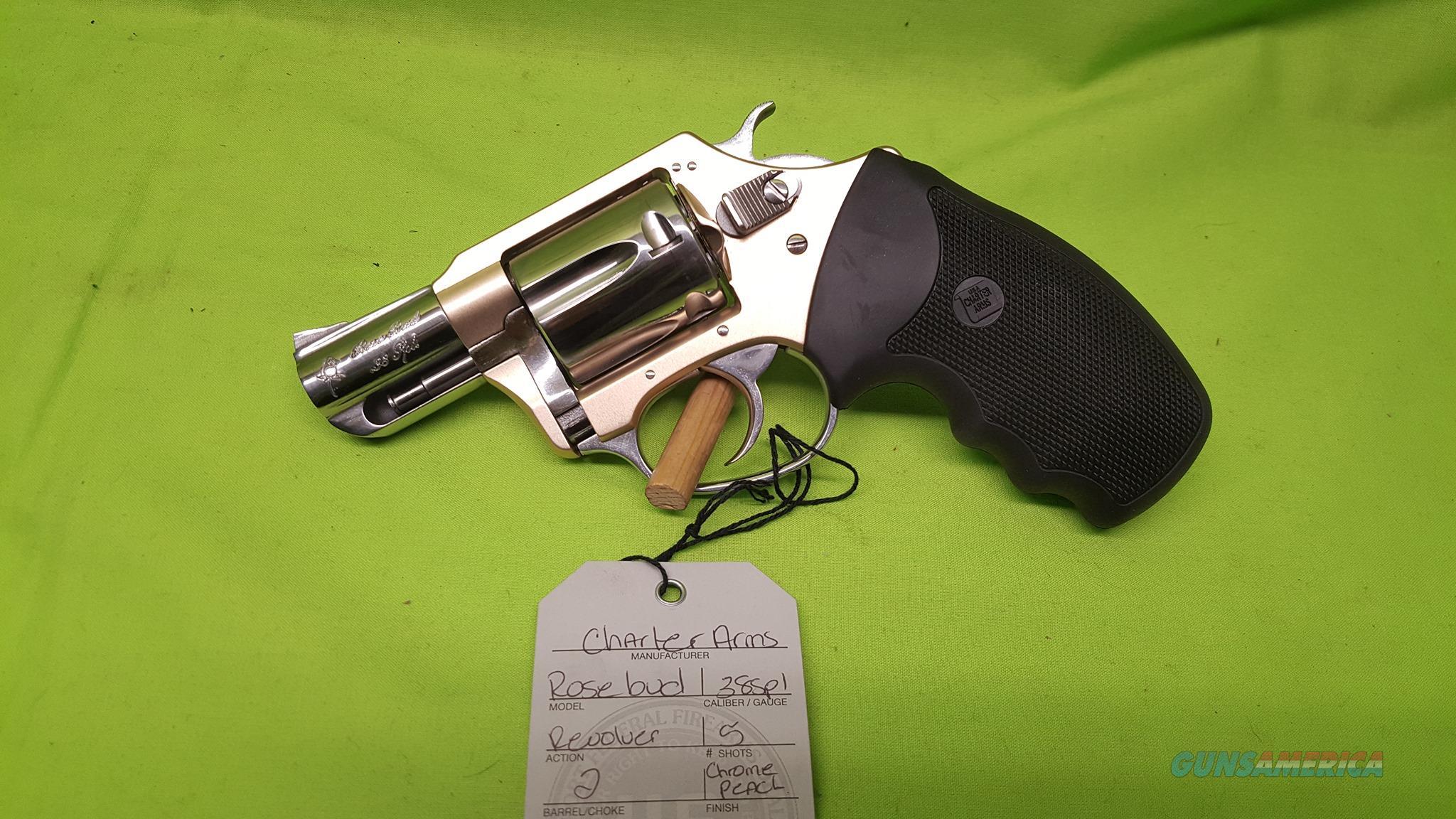 CHARTER ARMS UNDERCOVER ROSEBUD 38SPL 53859  Guns > Pistols > Charter Arms Revolvers