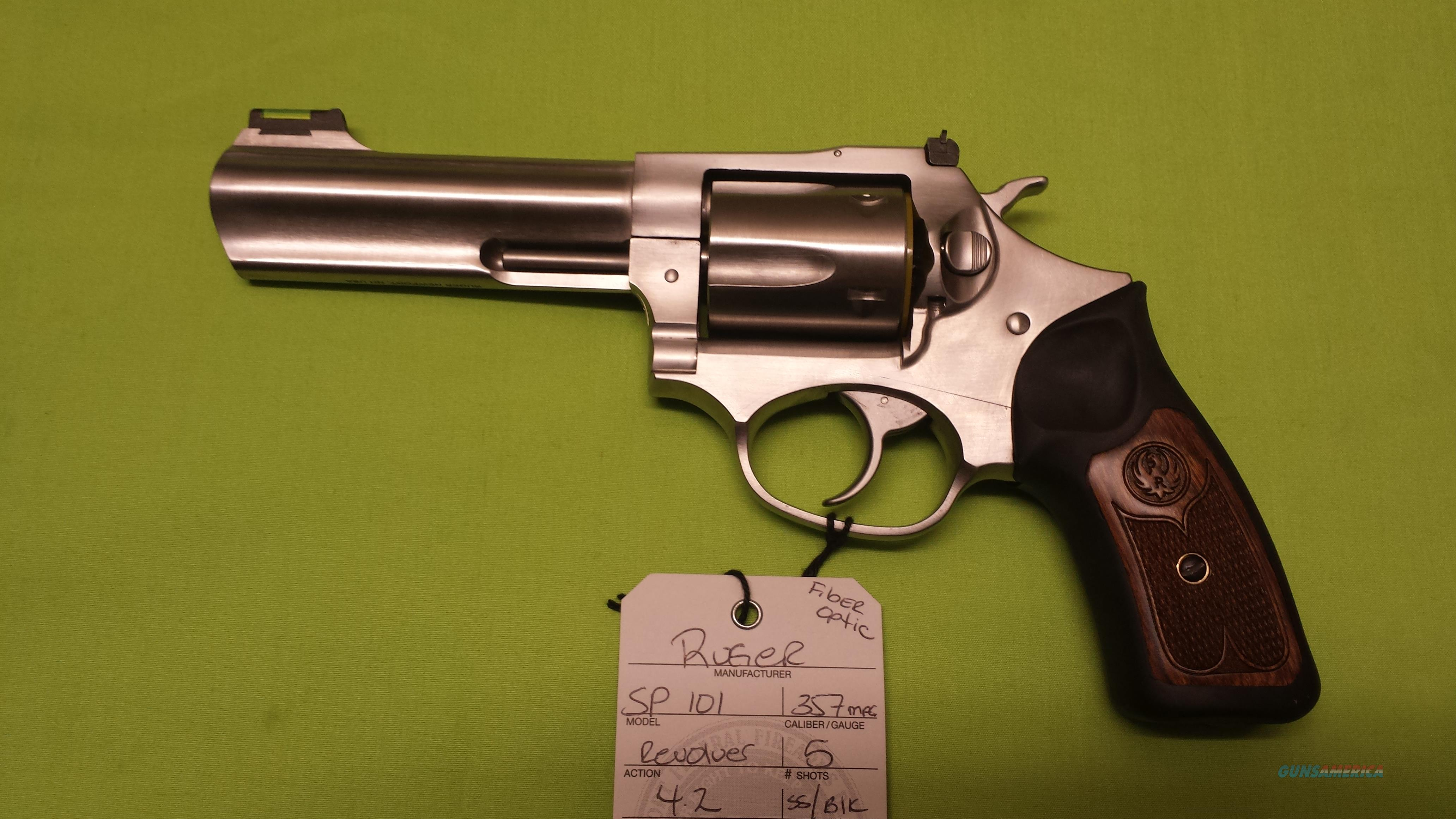 RUGER SP101 SP 101 357 MAG REVOLVER 4.2 STAINLESS  Guns > Pistols > Ruger Double Action Revolver > SP101 Type