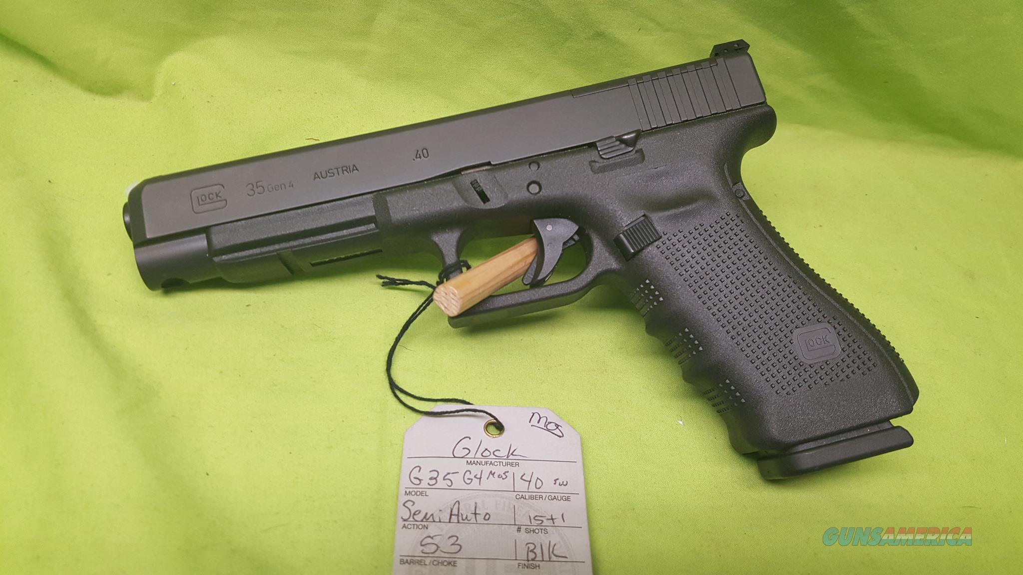GLOCK 35 GEN 4 40SW 40 S&W 15RD MOS RMR RAIL G35  Guns > Pistols > Glock Pistols > 35