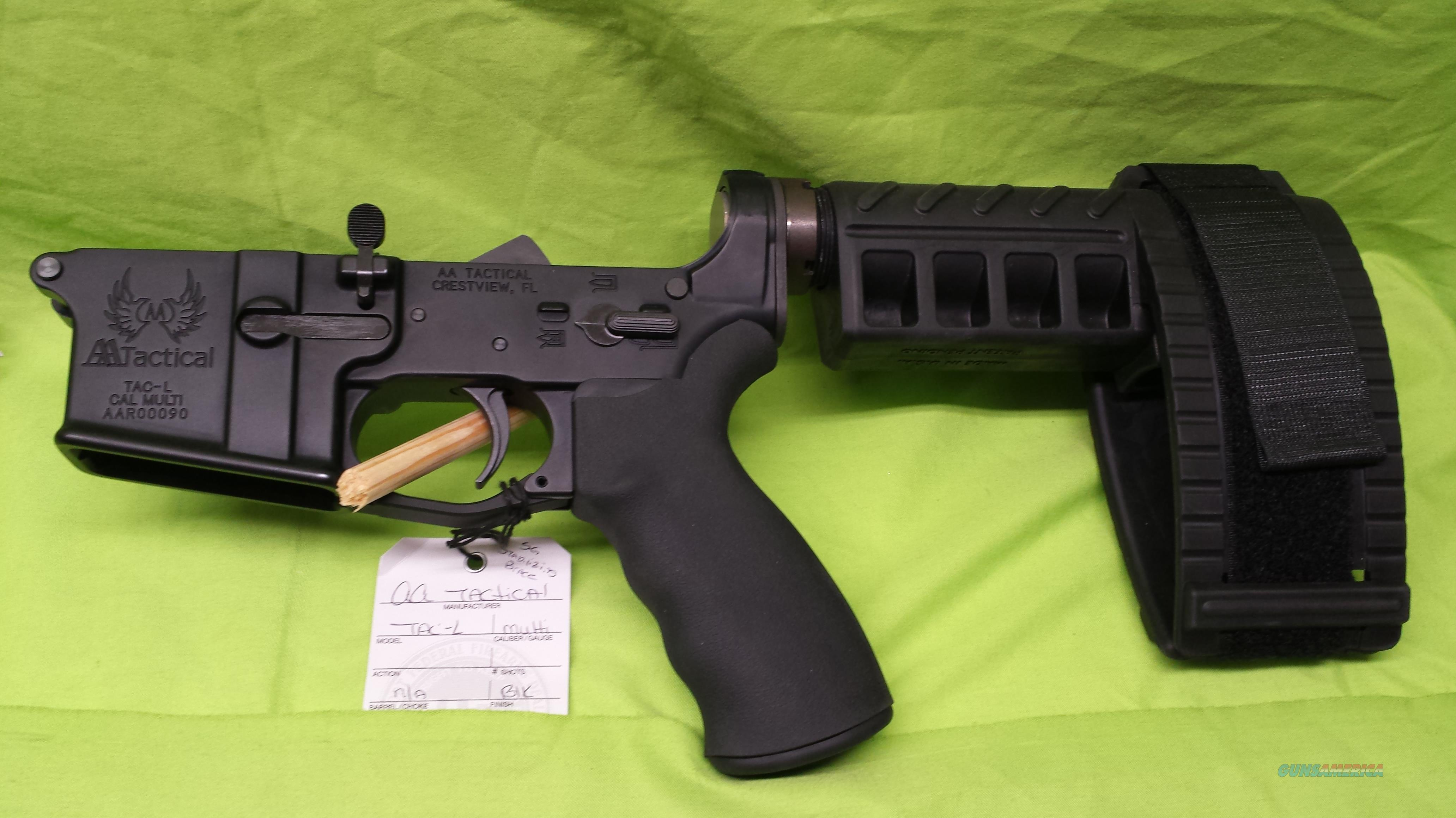 AA TACTICAL PISTOL SIG STABILIZING BRACE AR 15 BLACK COMPLETE LOWER  Guns > Rifles > AR-15 Rifles - Small Manufacturers > Lower Only