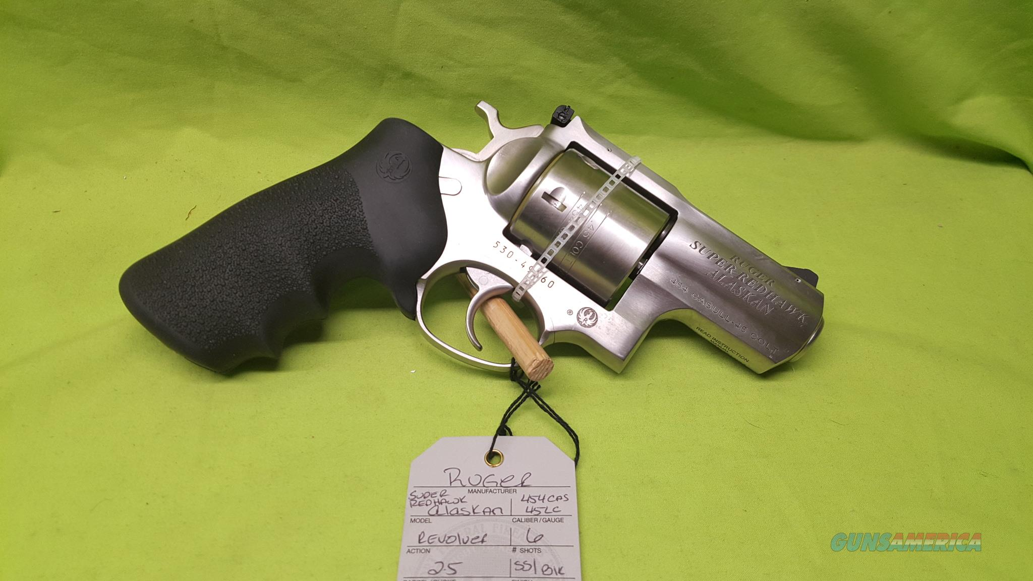 RUGER SUPER REDHAWK ALASKAN 454 CASUAL 45LC 2.5 SS  Guns > Pistols > Ruger Double Action Revolver > Redhawk Type