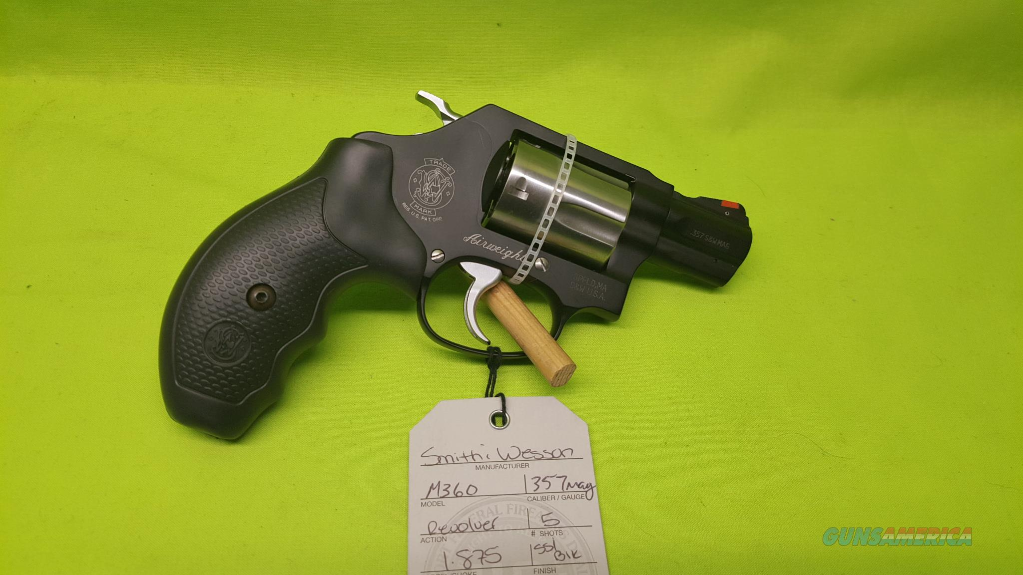 S&W M360 360 357MAG 357 MAG AIRWEIGHT 11713  Guns > Pistols > Smith & Wesson Revolvers > Small Frame ( J )