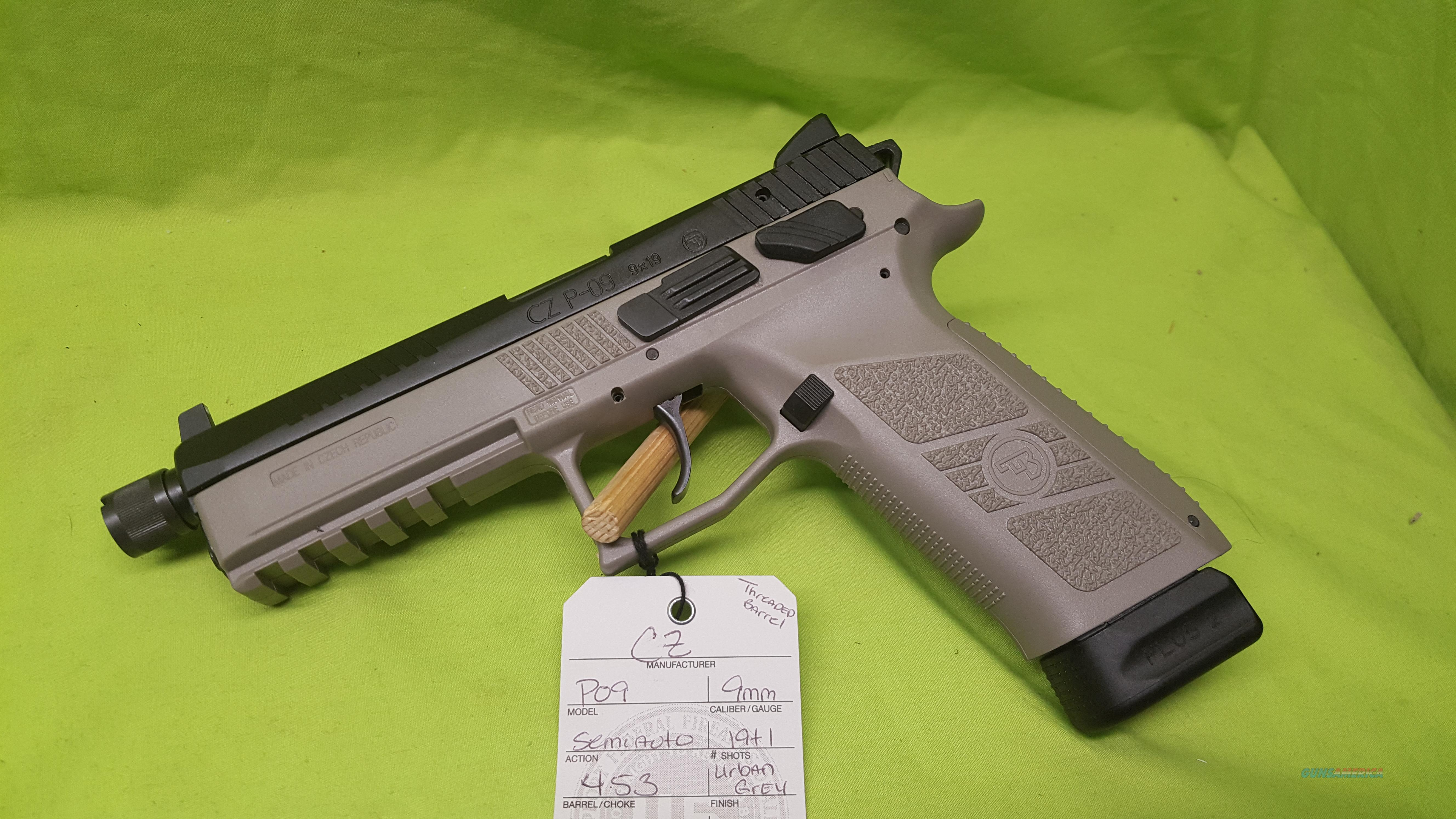 CZ P-09 P09 9 9MM GREY 21+1 THREAD NS 91269  Guns > Pistols > CZ Pistols