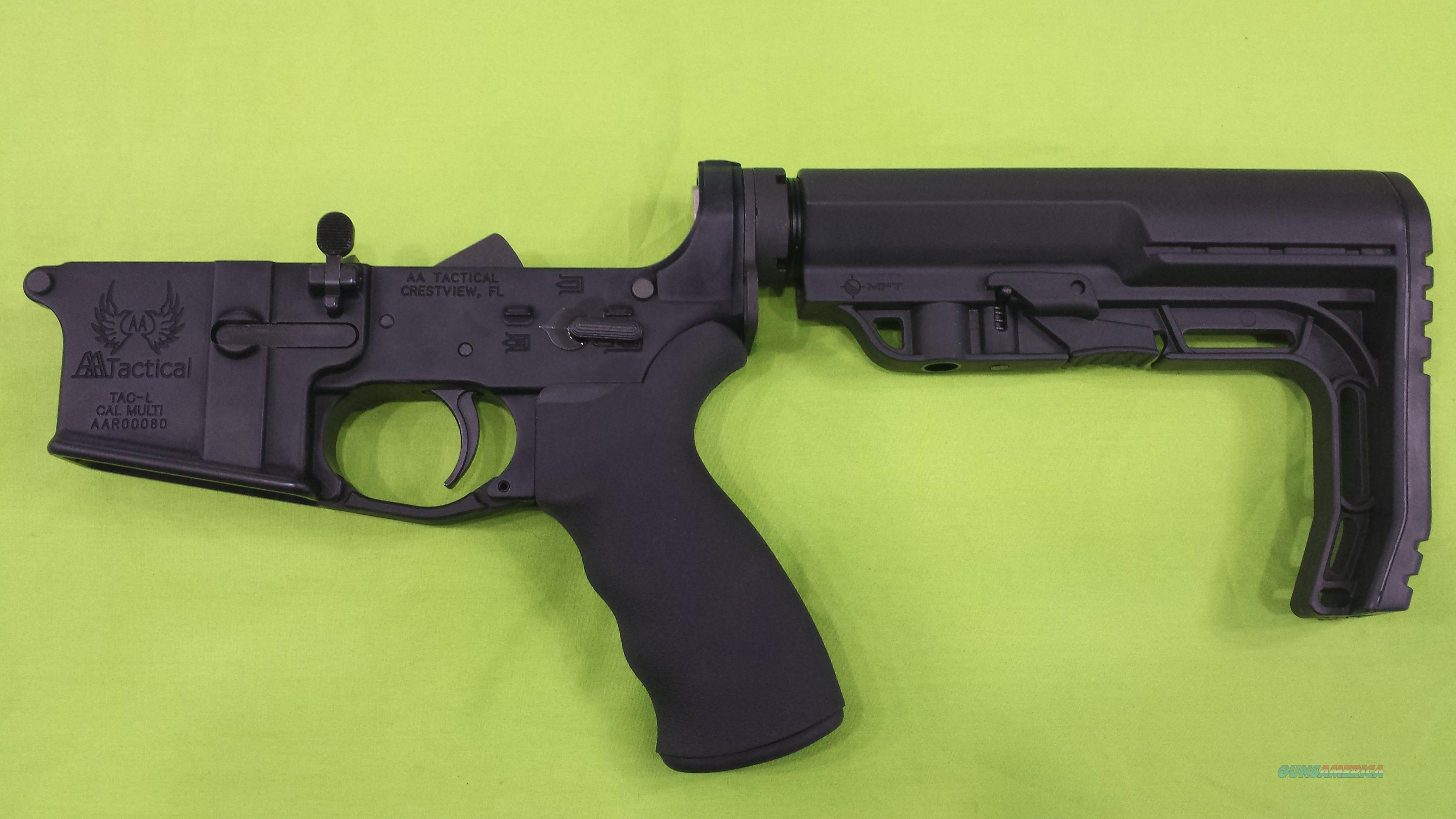 AA TACTICAL TAC-L MFT MINIMALIST BLACK MULTI AR15 COMPLETE LOWER  Guns > Rifles > AR-15 Rifles - Small Manufacturers > Lower Only