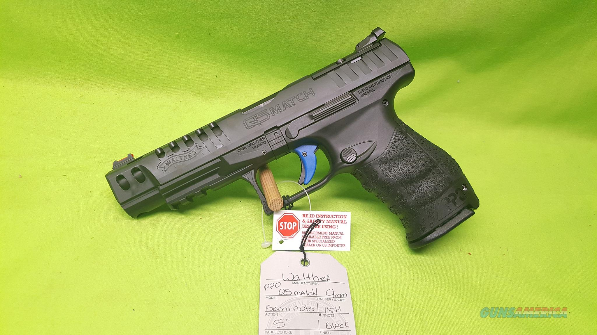 "WALTHER PPQ Q5 MATCH 9MM 5"" 15+1 3MAGS 2813335  Guns > Pistols > Walther Pistols > Post WWII > P99/PPQ"