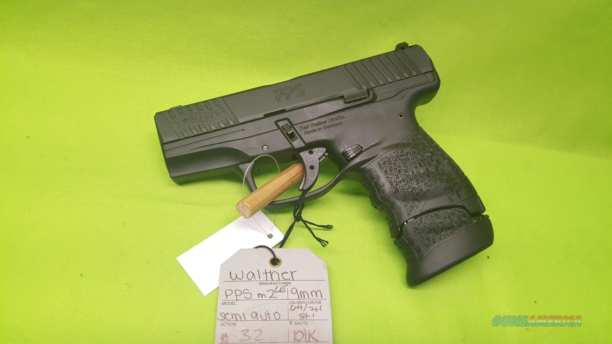 WALTHER PPS M2 LE 9MM 6/7/8RD POLICE PISTOL SLIM  Guns > Pistols > Walther Pistols > Post WWII > PPS