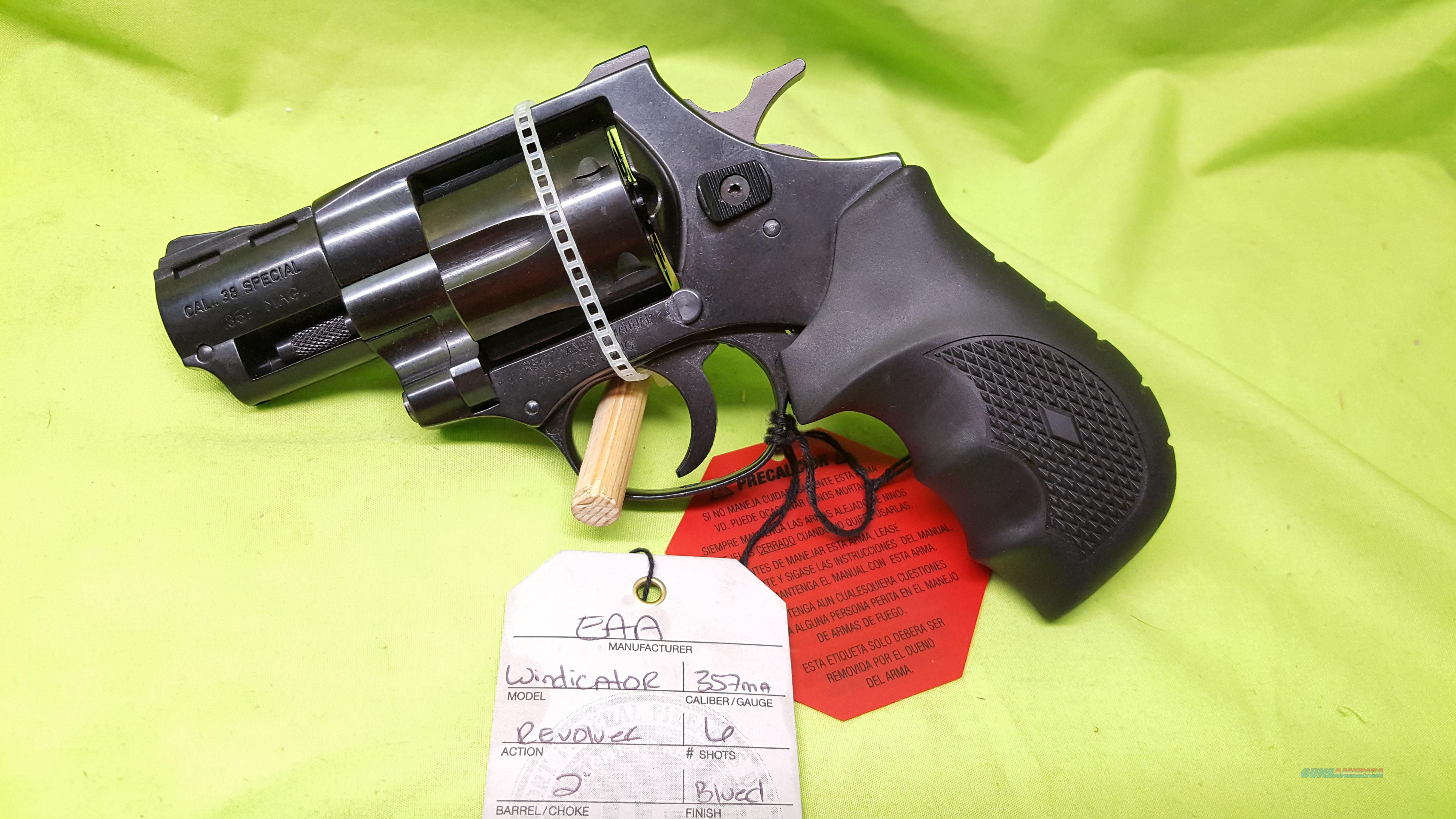 "EAA WINDICATOR .357 357 MAG 6RD 2"" BLK RUBBER  Guns > Pistols > EAA Pistols > Other"