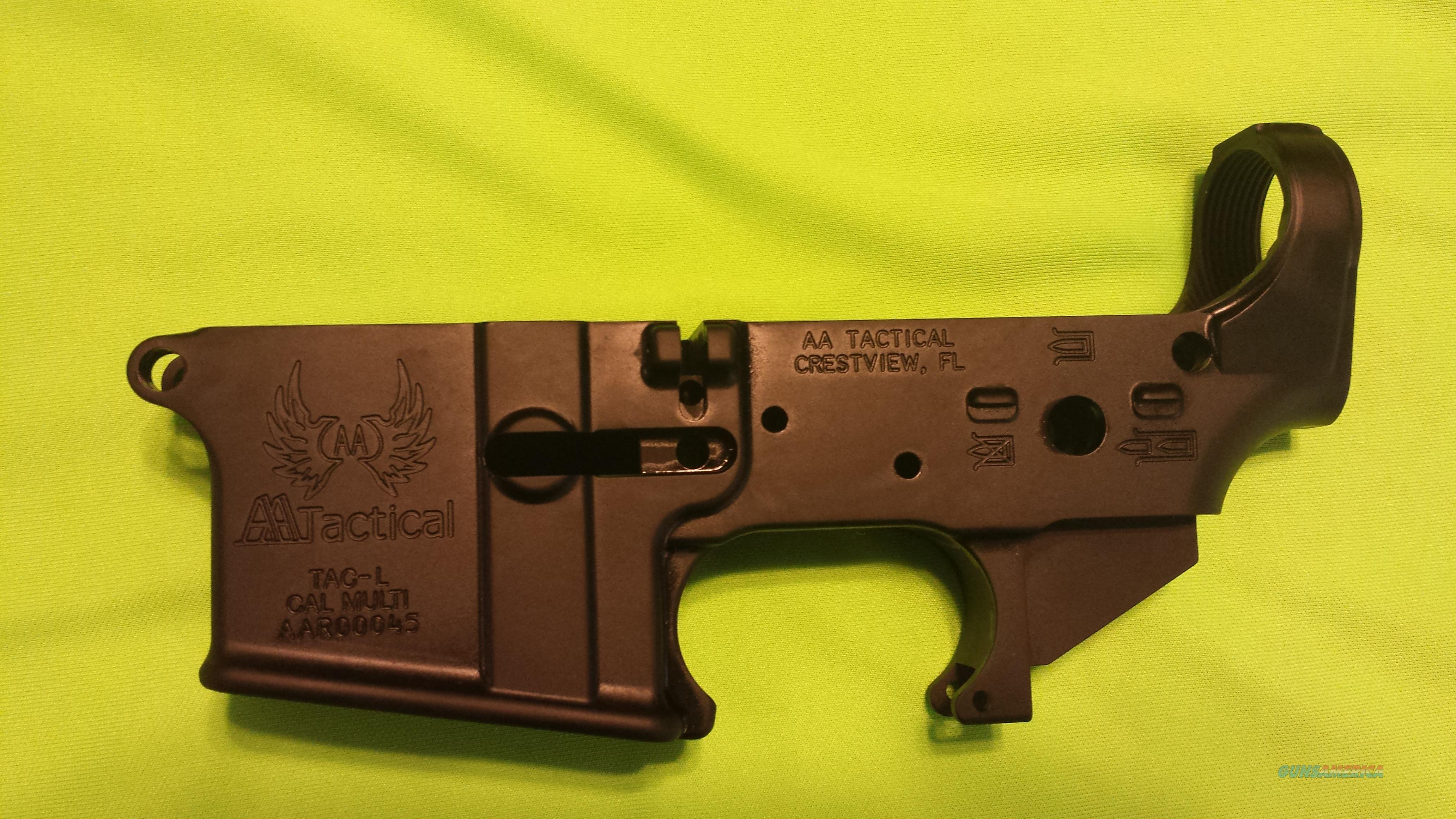 AA TACTICAL STRIPPED LOWER RECEIVER AR15 MULTI  Guns > Rifles > AR-15 Rifles - Small Manufacturers > Lower Only
