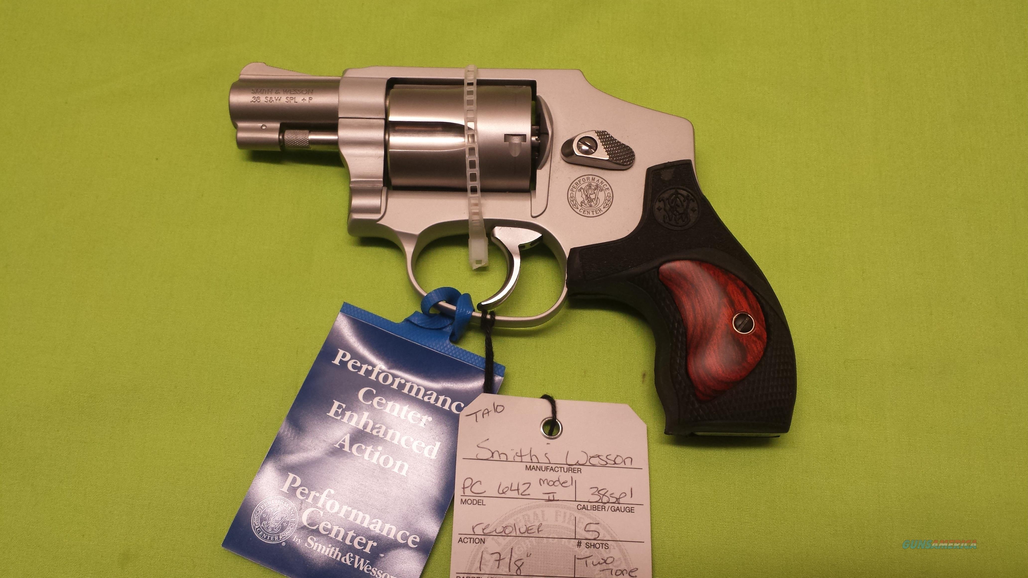 S&W 642 PC 38 38SPL SS WOOD PERFORMANCE MODEL II  Guns > Pistols > Smith & Wesson Revolvers > Performance Center