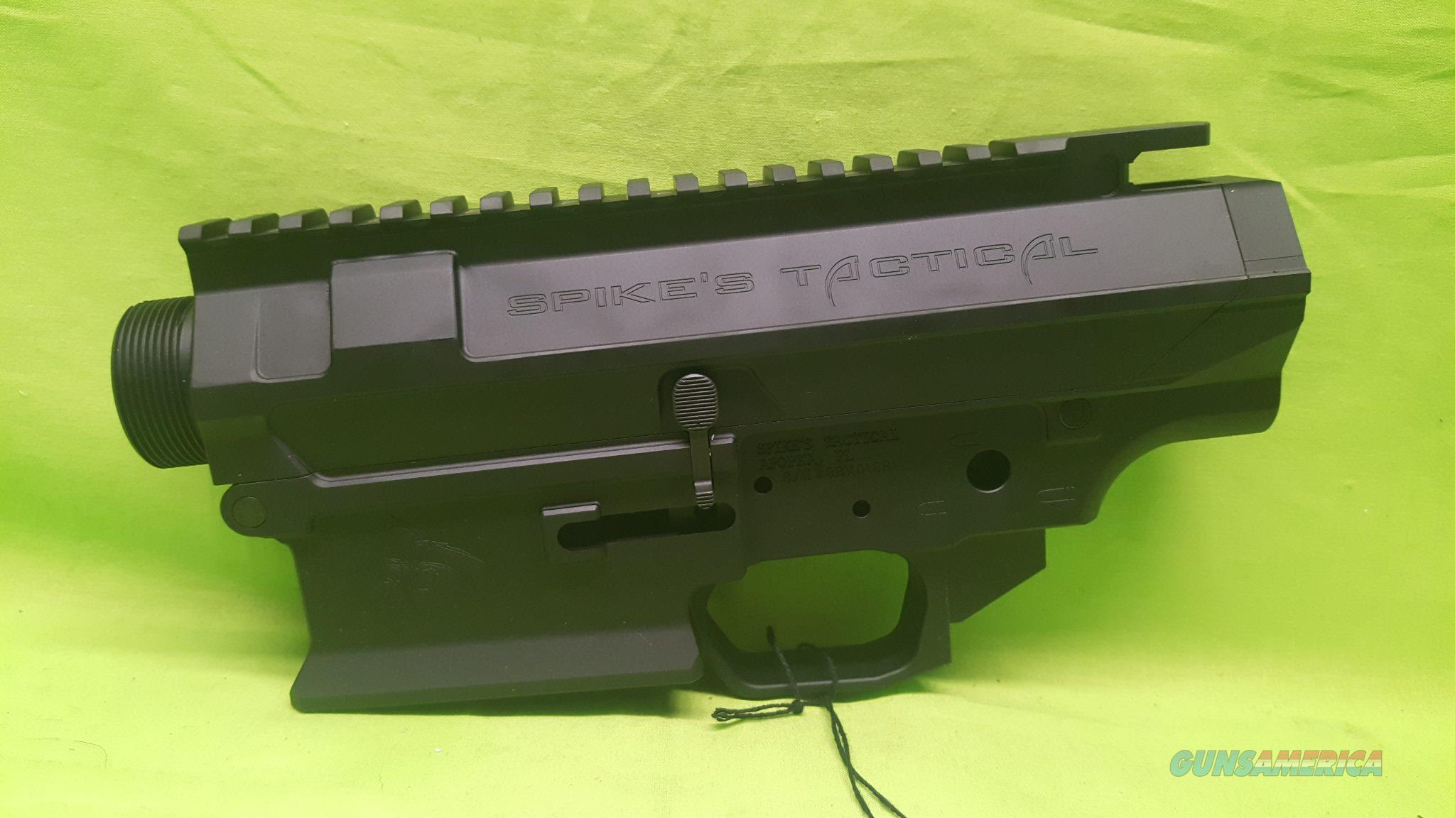 SPIKES STRIPPED 308 762 UPPER / LOWER LIVEWIRE BLK  Guns > Rifles > AR-15 Rifles - Small Manufacturers > Lower Only
