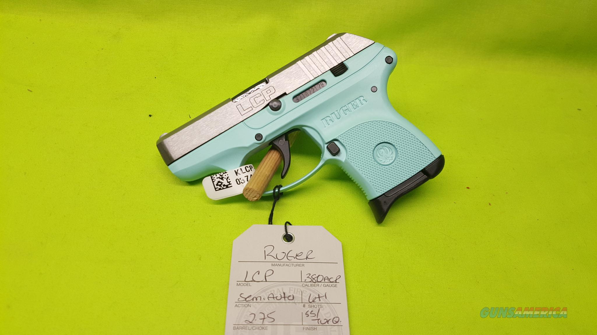 RUGER LCP 380 ACP 380ACP SS / TURQUOISE 6RD 3745  Guns > Pistols > Ruger Semi-Auto Pistols > LCP