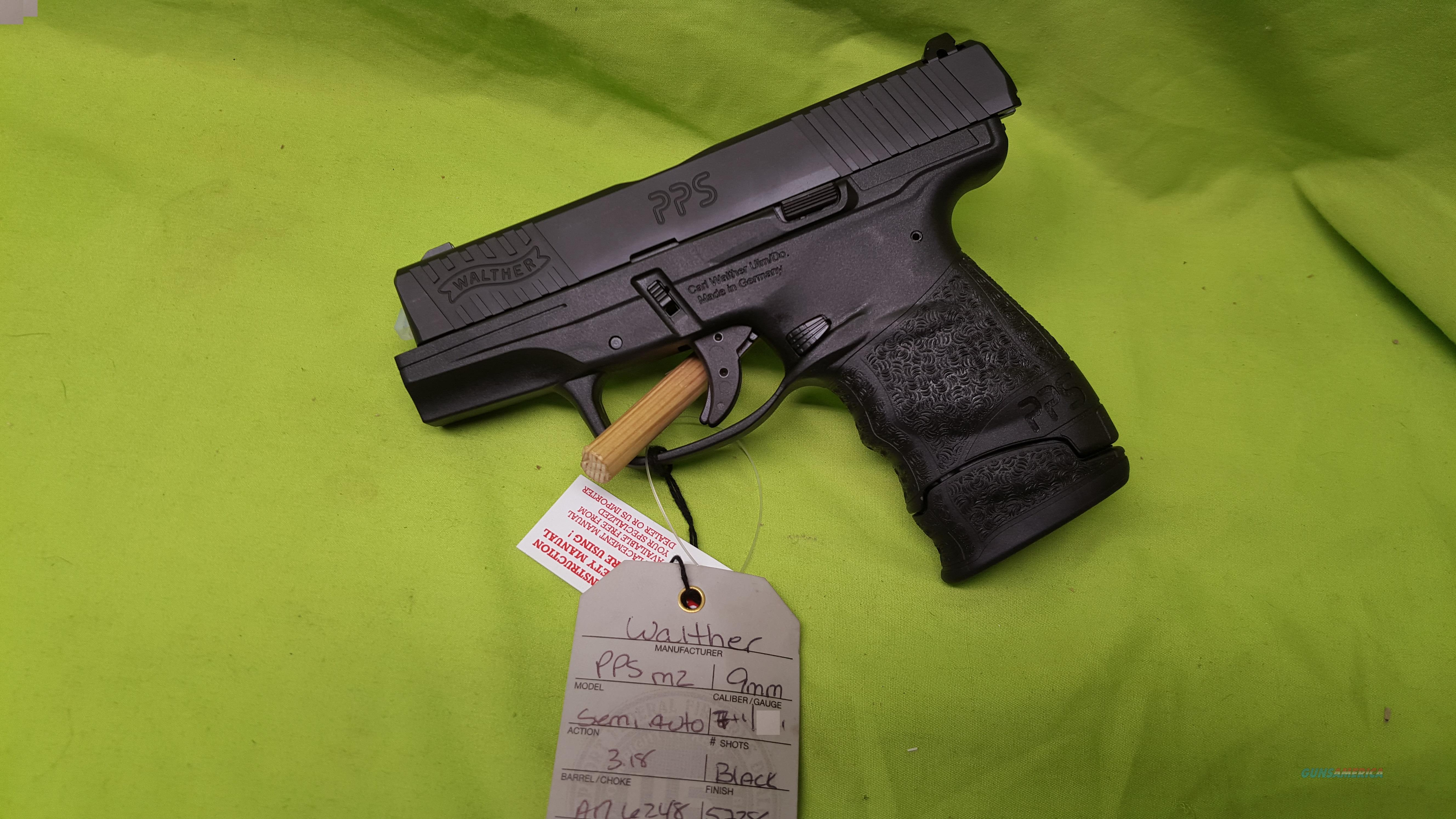 WALTHER PPS M2 9MM 3.2 6/7RD POLICE PISTOL SLIM  Guns > Pistols > Walther Pistols > Post WWII > PPS