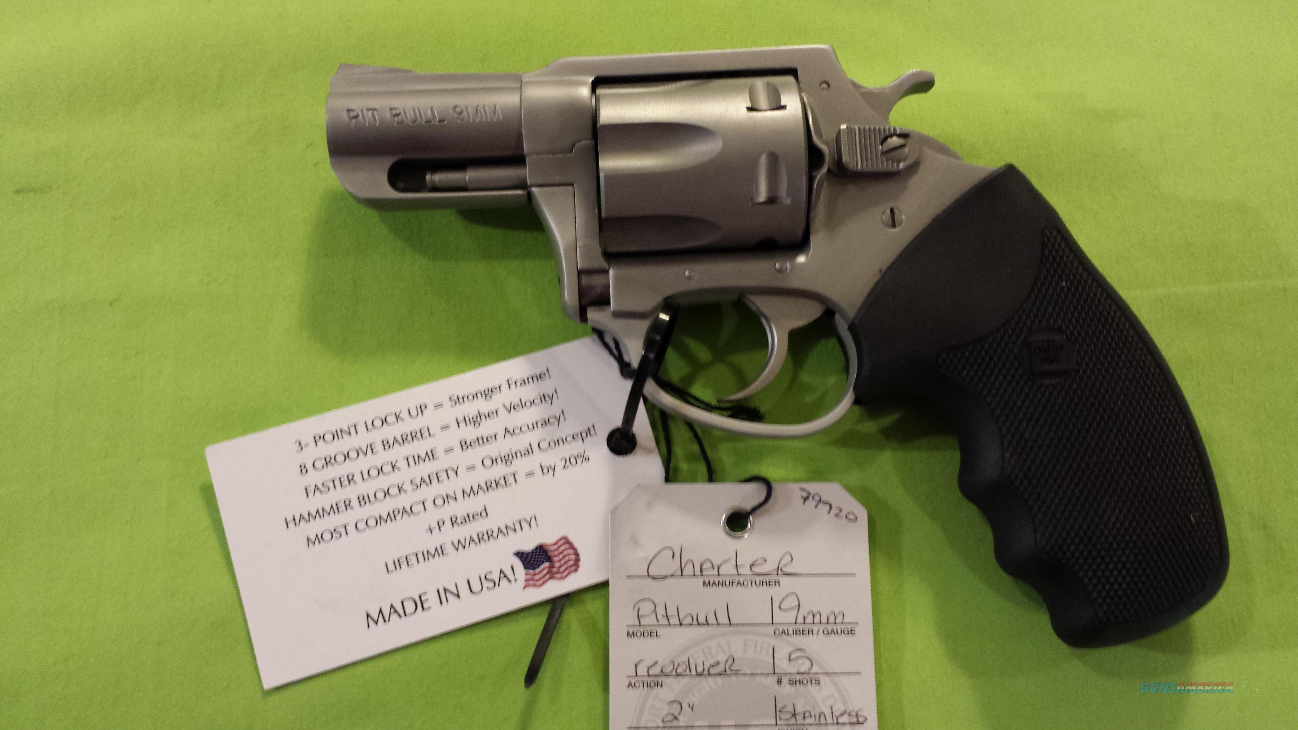 "CHARTER ARMS PITBULL 9MM 9 MM 2"" SS 5RD 79920  Guns > Pistols > Charter Arms Revolvers"