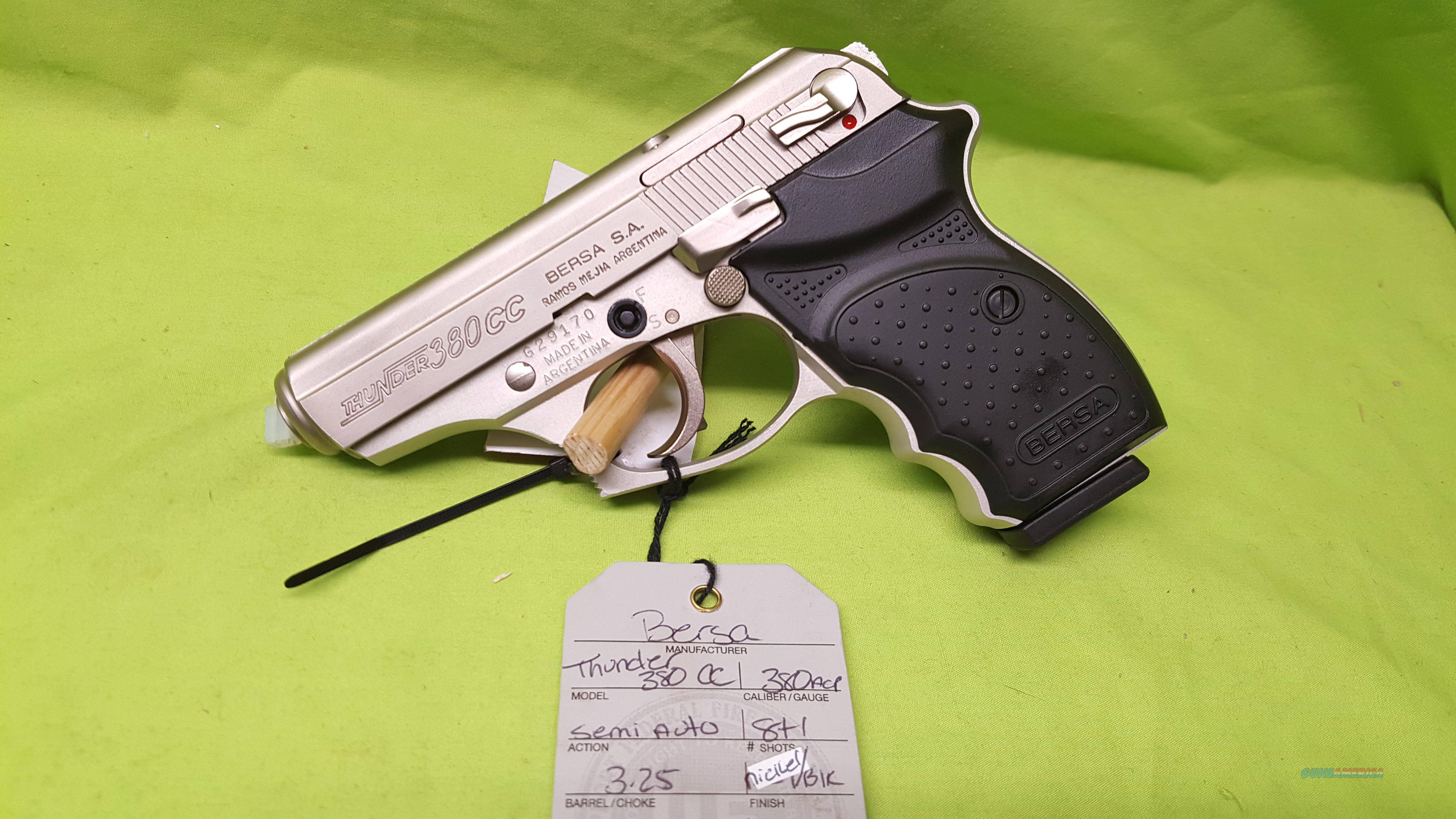 BERSA THUNDER 380 CC CONCEALED CARRY 380ACP 8 + 1   Guns > Pistols > Bersa Pistols