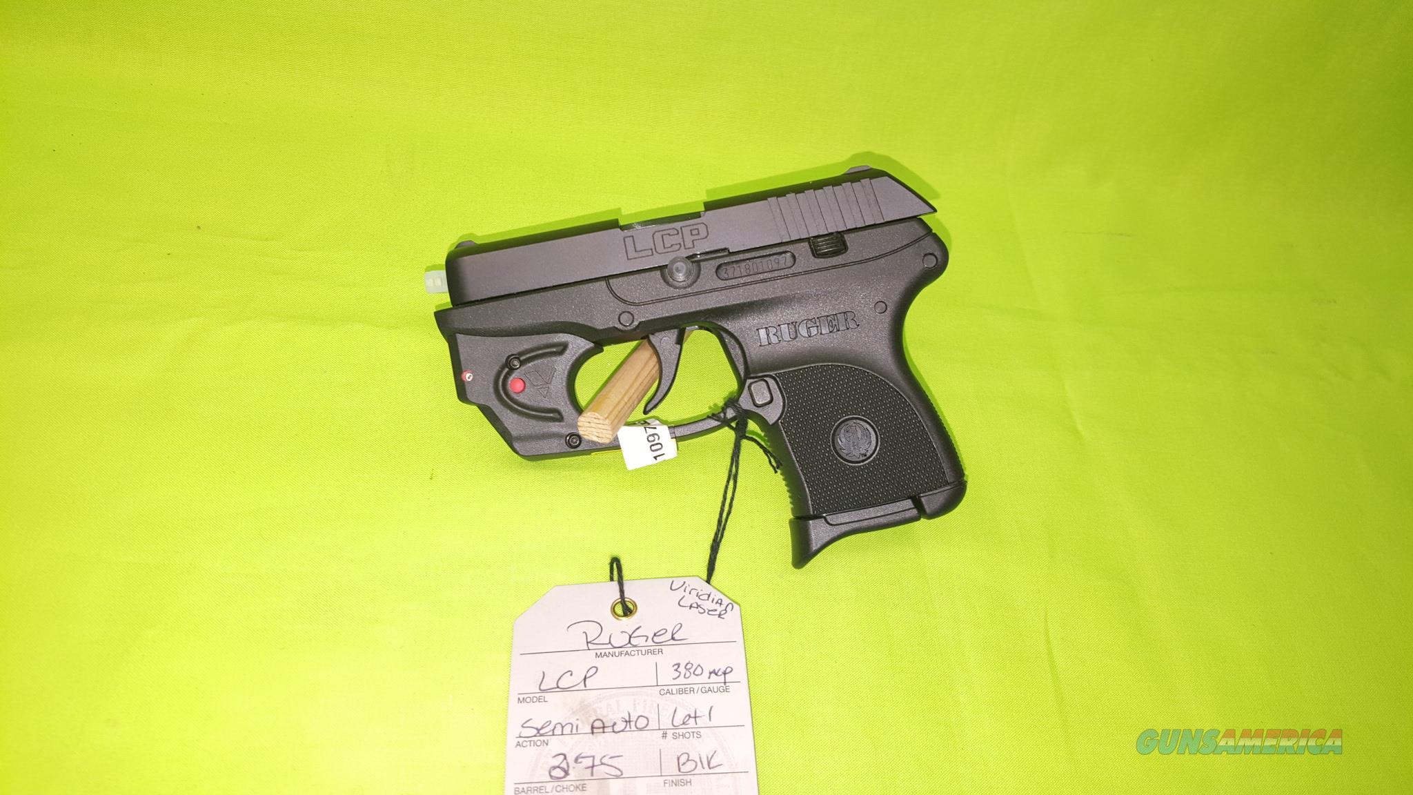 RUGER LCP 380 380ACP 6+1 VIRIDIAN RED LASER 3752  Guns > Pistols > Ruger Semi-Auto Pistols > LCP