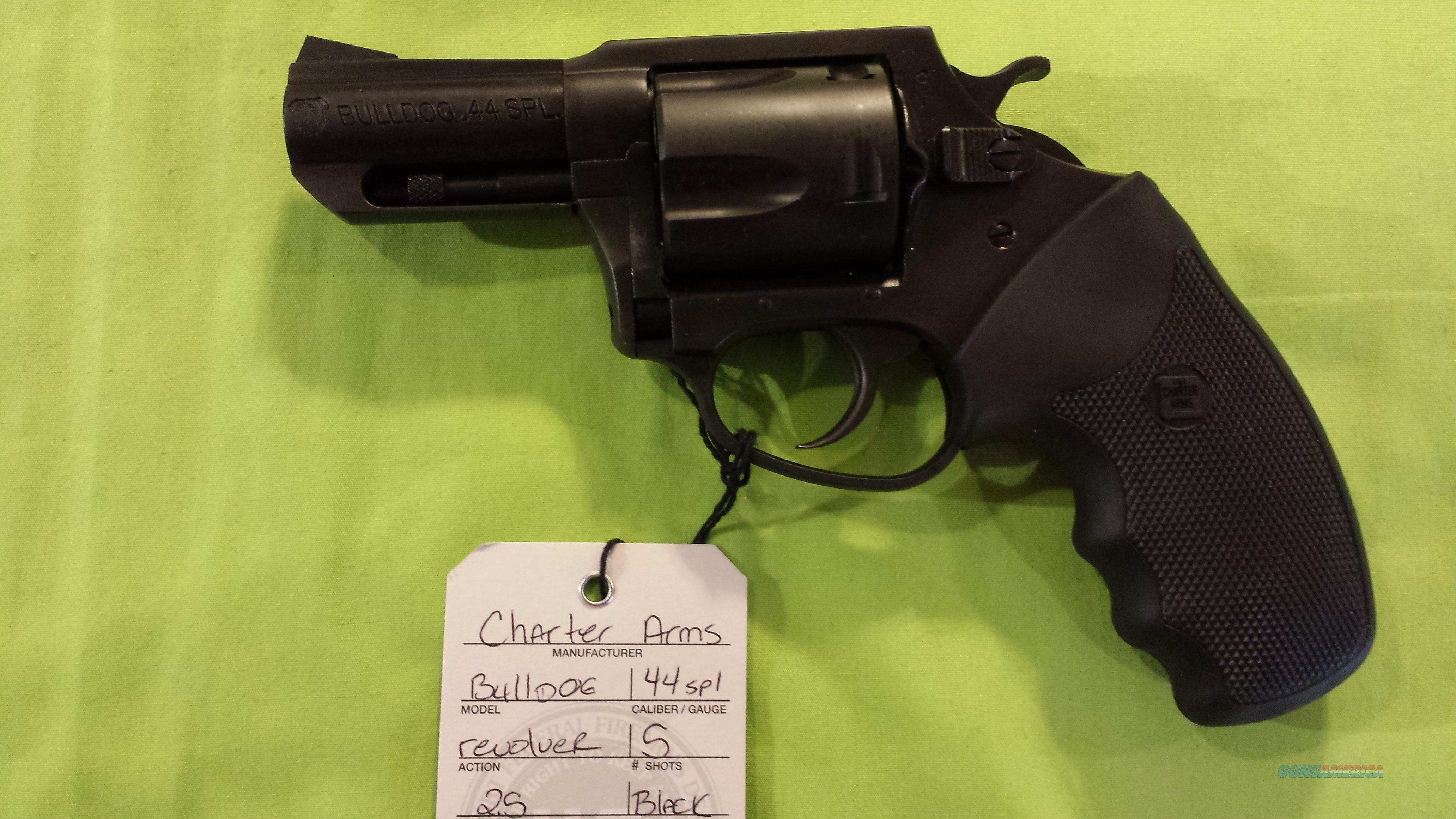 "CHARTER ARMS BULLDOG 44 SPECIAL SPL 44SPL 2.5"" BLACK  Guns > Pistols > Charter Arms Revolvers"