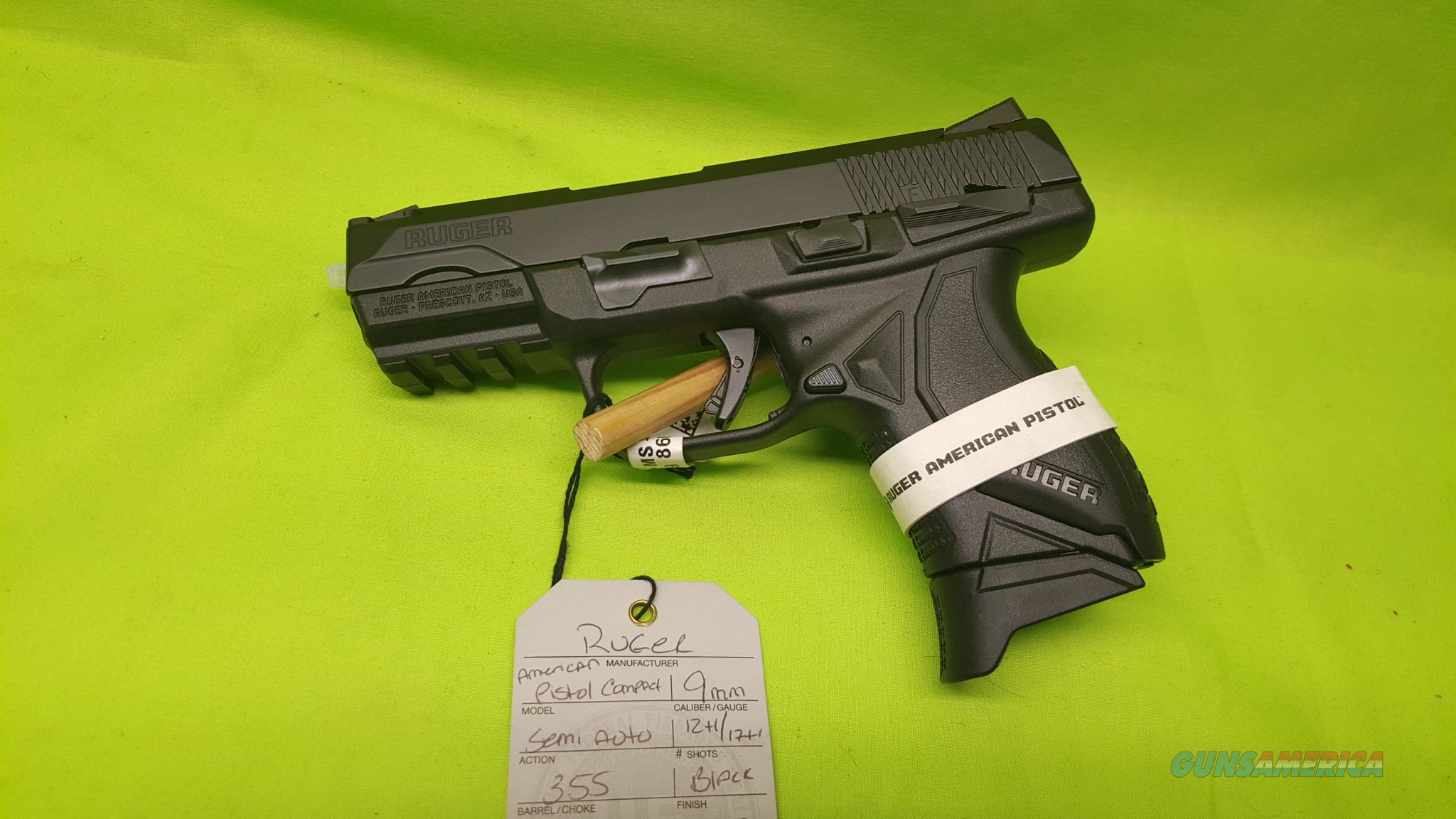RUGER AMERICAN PISTOL COMPACT 9MM 9 MM 12/17 8639  Guns > Pistols > Ruger Semi-Auto Pistols > American Pistol