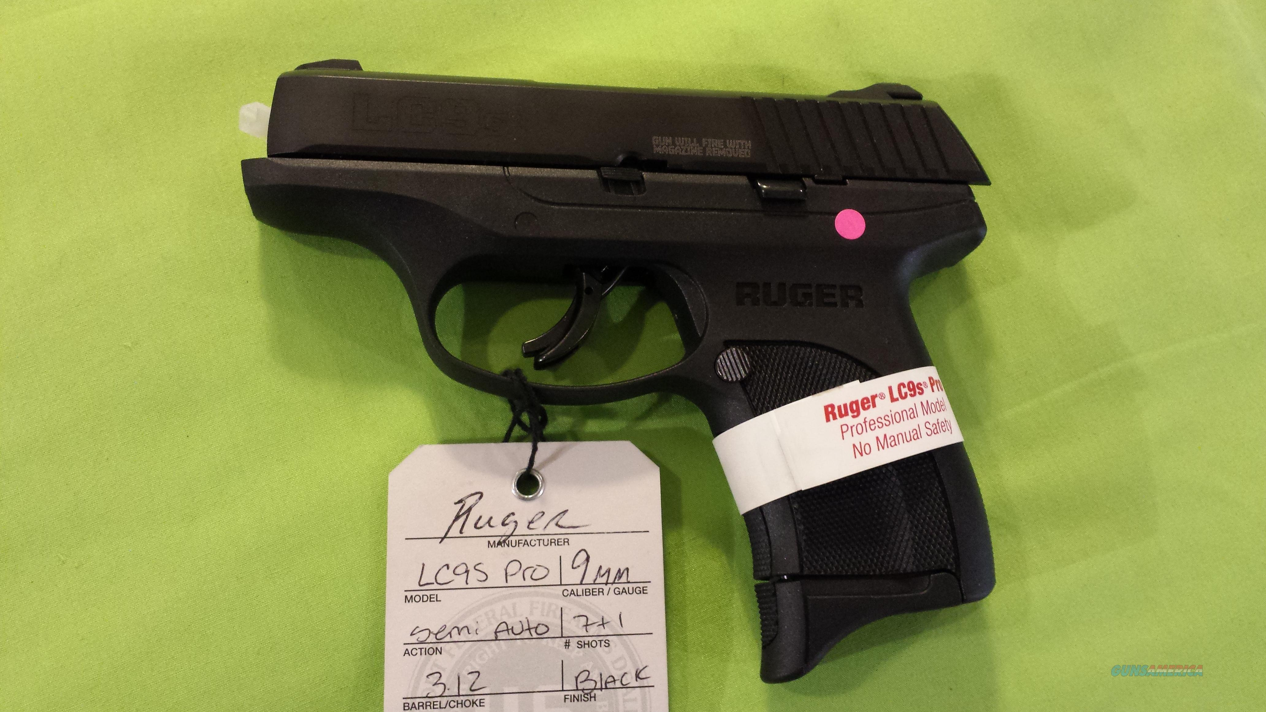 RUGER LC9S PRO LC9 S 9 9MM 7RD STRIKER FIRE 3248  Guns > Pistols > Ruger Semi-Auto Pistols > LC9