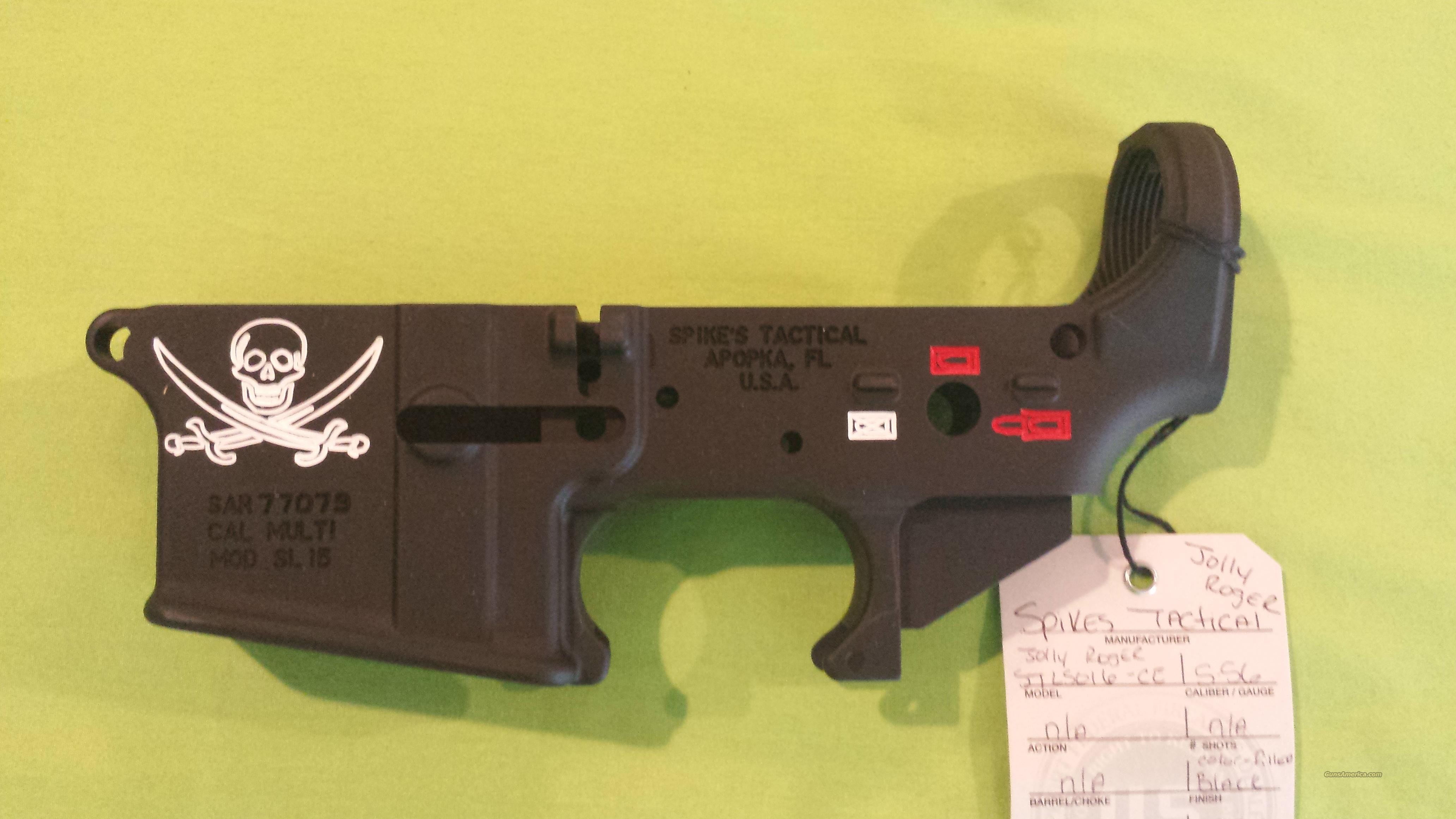 Pa Sales Tax >> SPIKES STRIPPED LOWER JOLLY ROGER COLOR AR15 5.... for sale