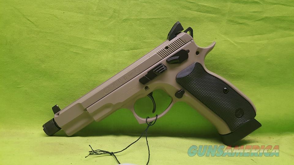 CZ 75 B 75B OMEGA 9MM 9 MM GREY 16+1 THREAD 91235  Guns > Pistols > CZ Pistols