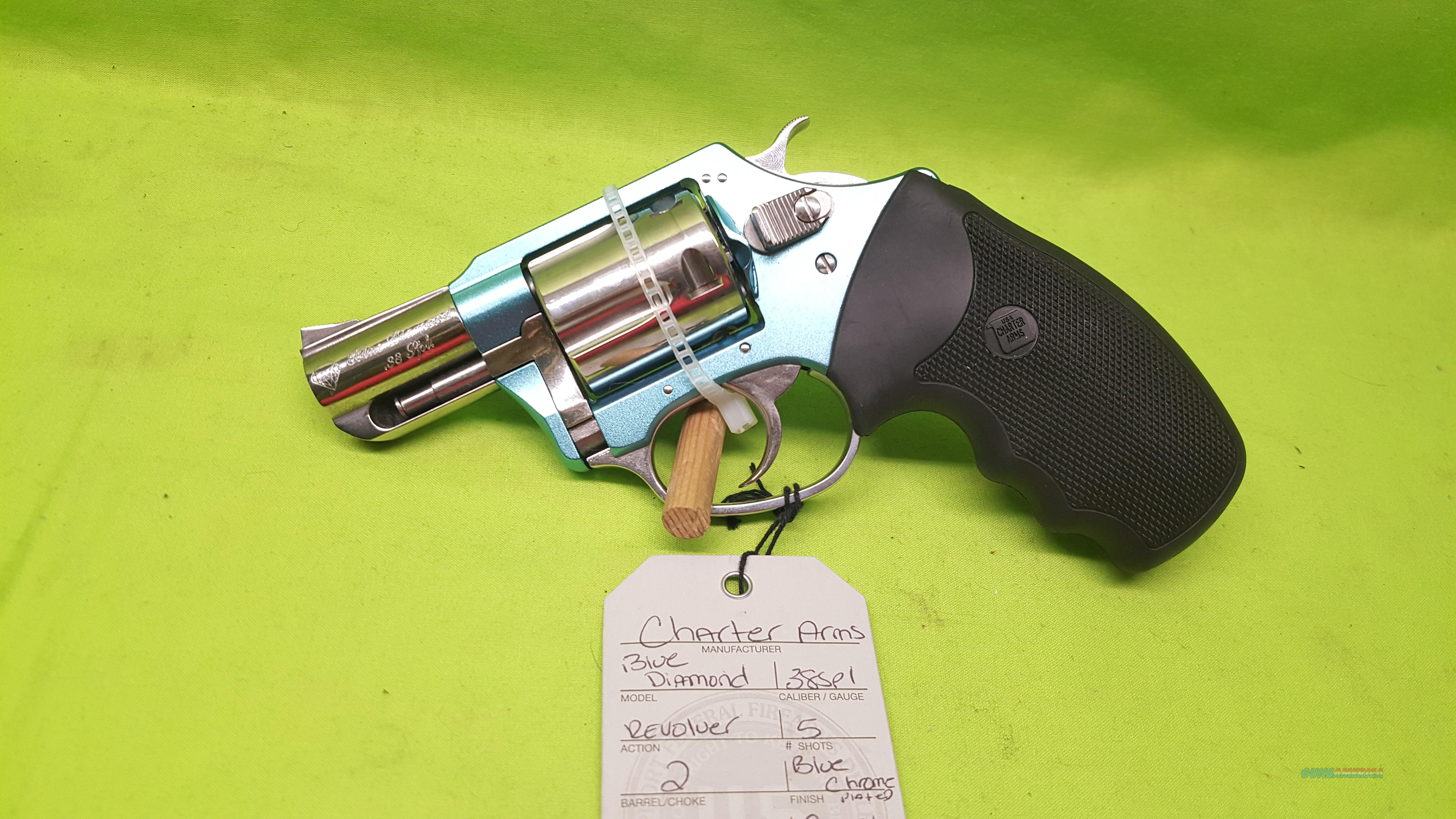 CHARTER ARMS BLUE DIAMOND CHROME 38SPL TIFFANY COLOR  Guns > Pistols > Charter Arms Revolvers
