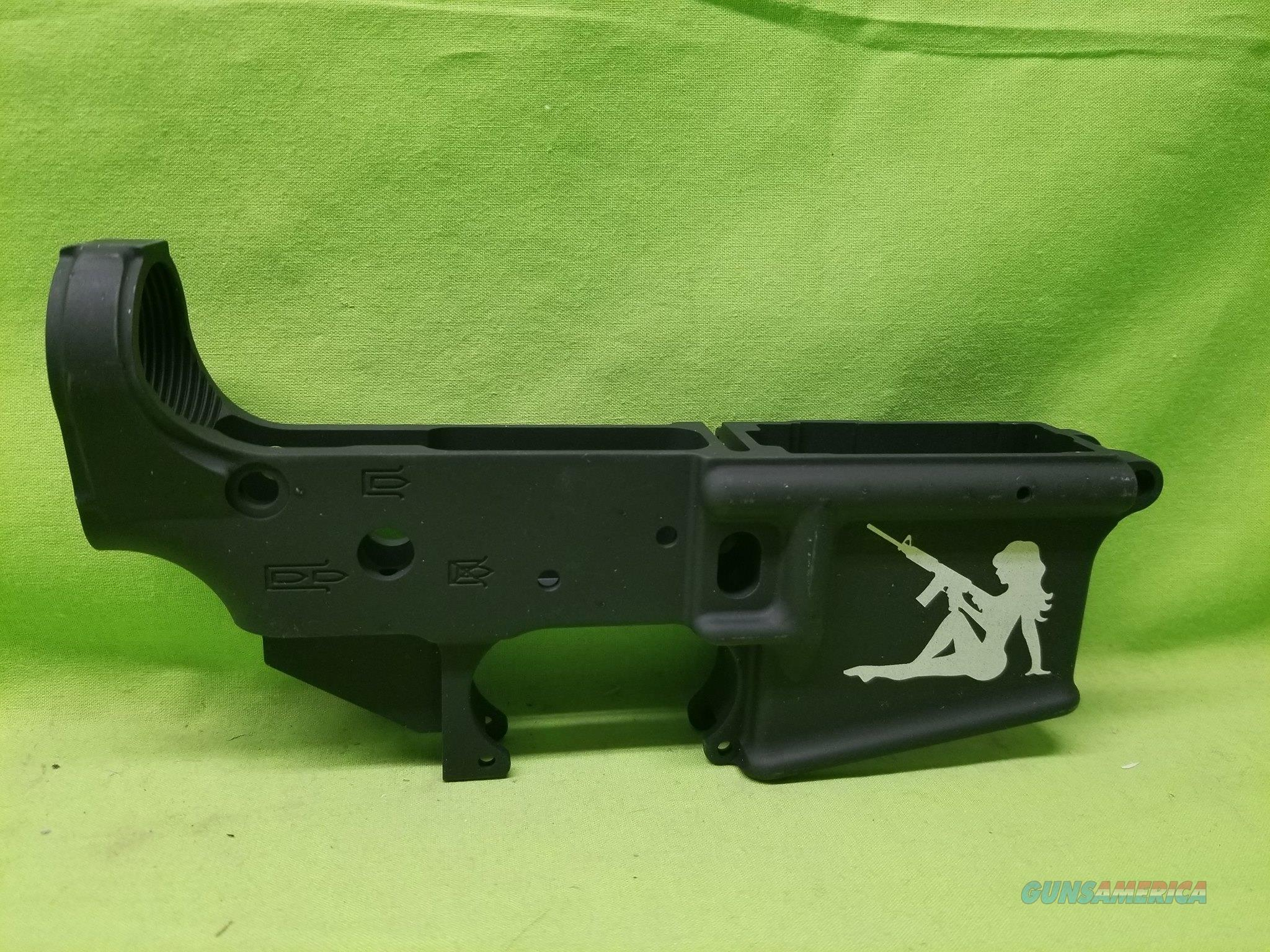 AA TACTICAL TAC-L WING STRIPPED LOWER GIRL WITH GUN  Guns > Rifles > AR-15 Rifles - Small Manufacturers > Lower Only