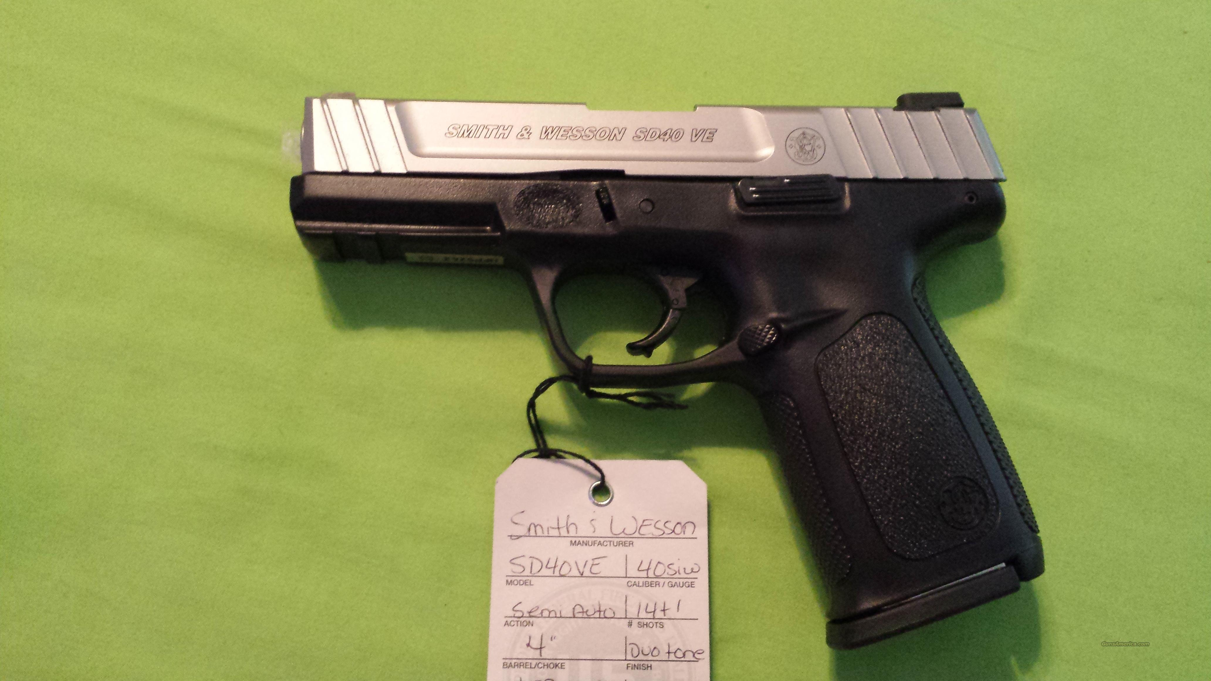 "S&W SD40VE 40SW 14RD 4""  2MAGS   Guns > Pistols > Smith & Wesson Pistols - Autos > Polymer Frame"