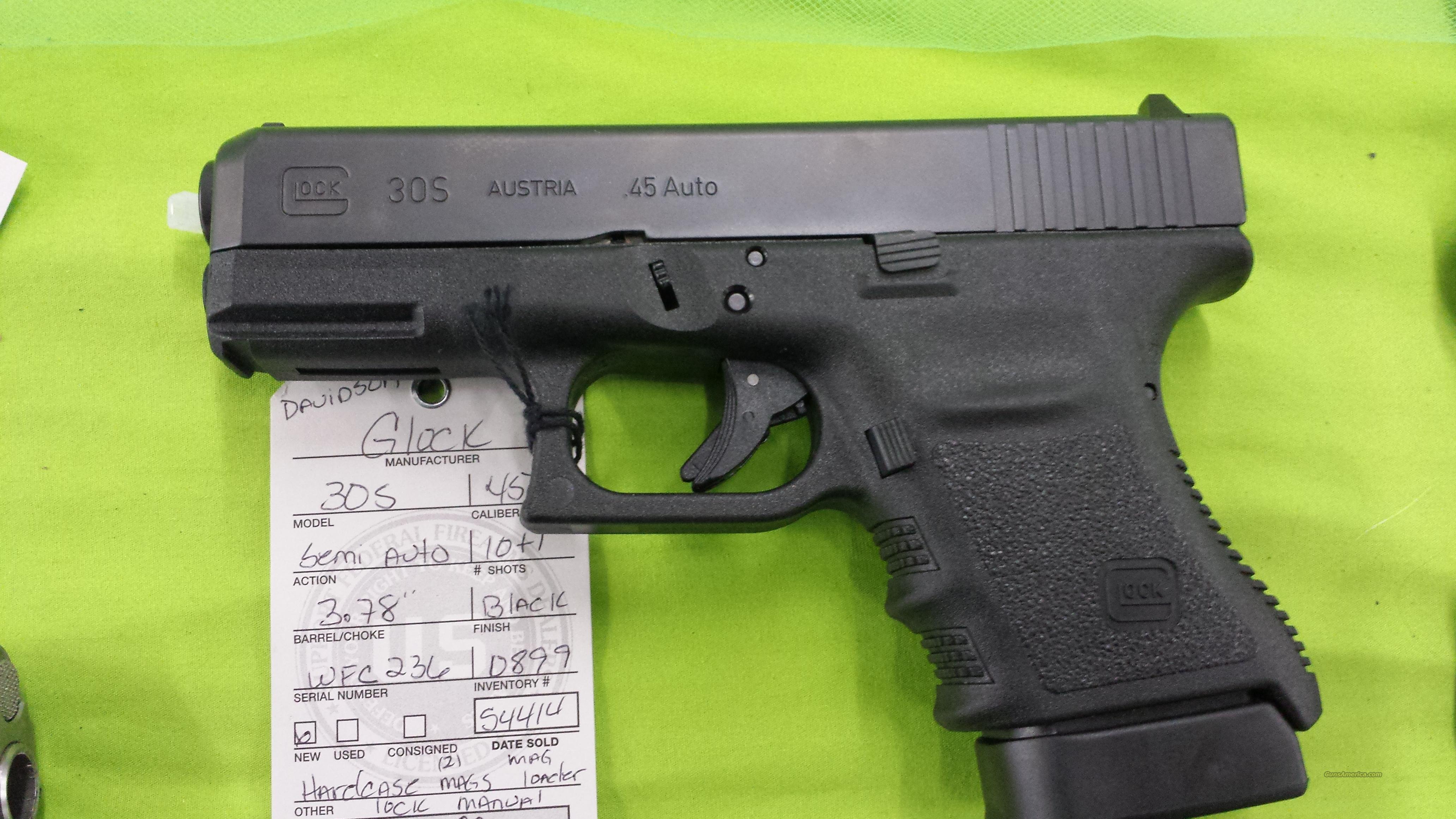 GLOCK 30S 30 S 45ACP .45 GEN 3 FS 2-10RD...NIB  Guns > Pistols > Glock Pistols > 29/30/36