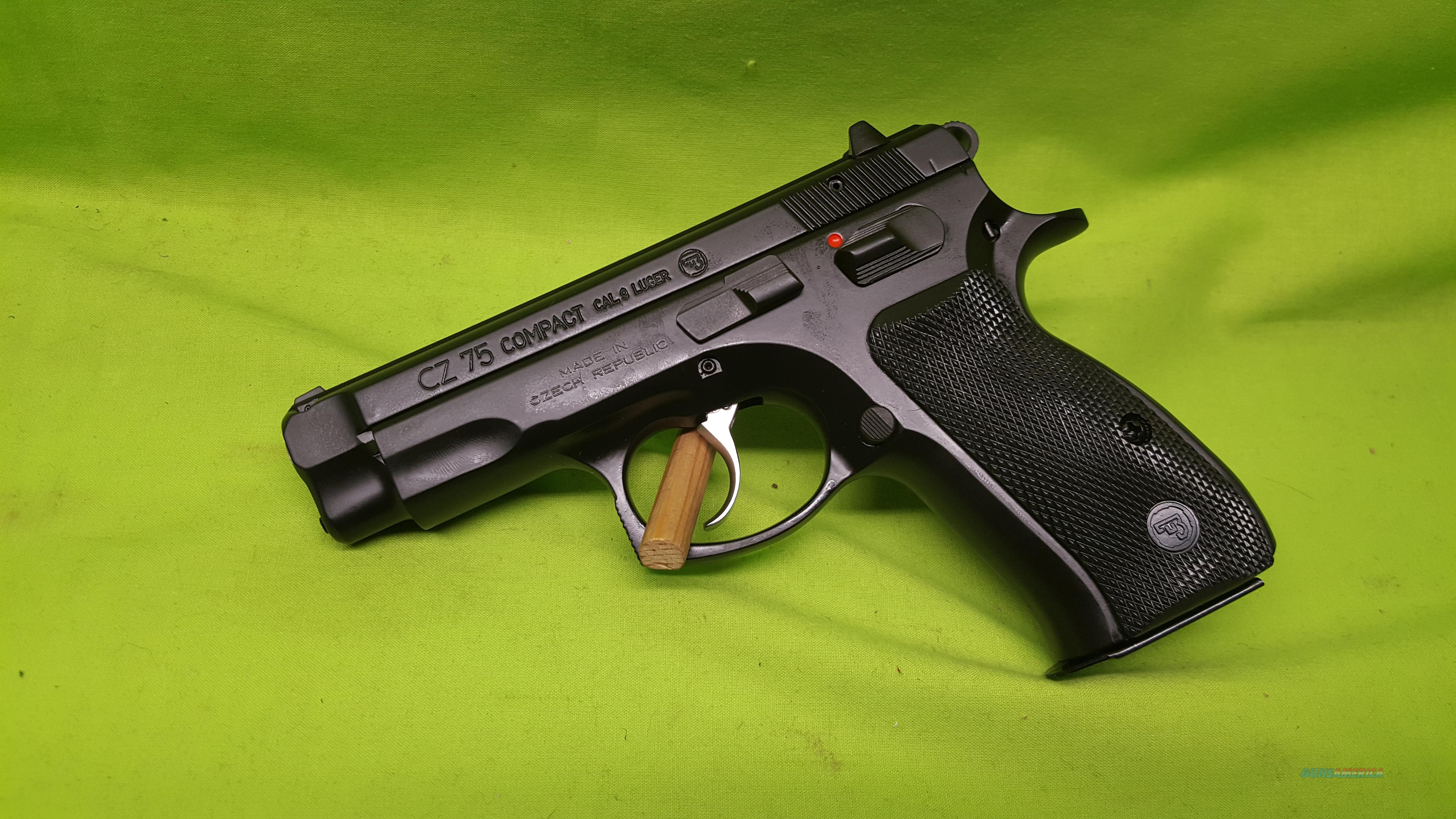 "CZ 75 COMPACT 75C 9MM 3.9"" BLK 2-14RD STEEL 91190  Guns > Pistols > CZ Pistols"