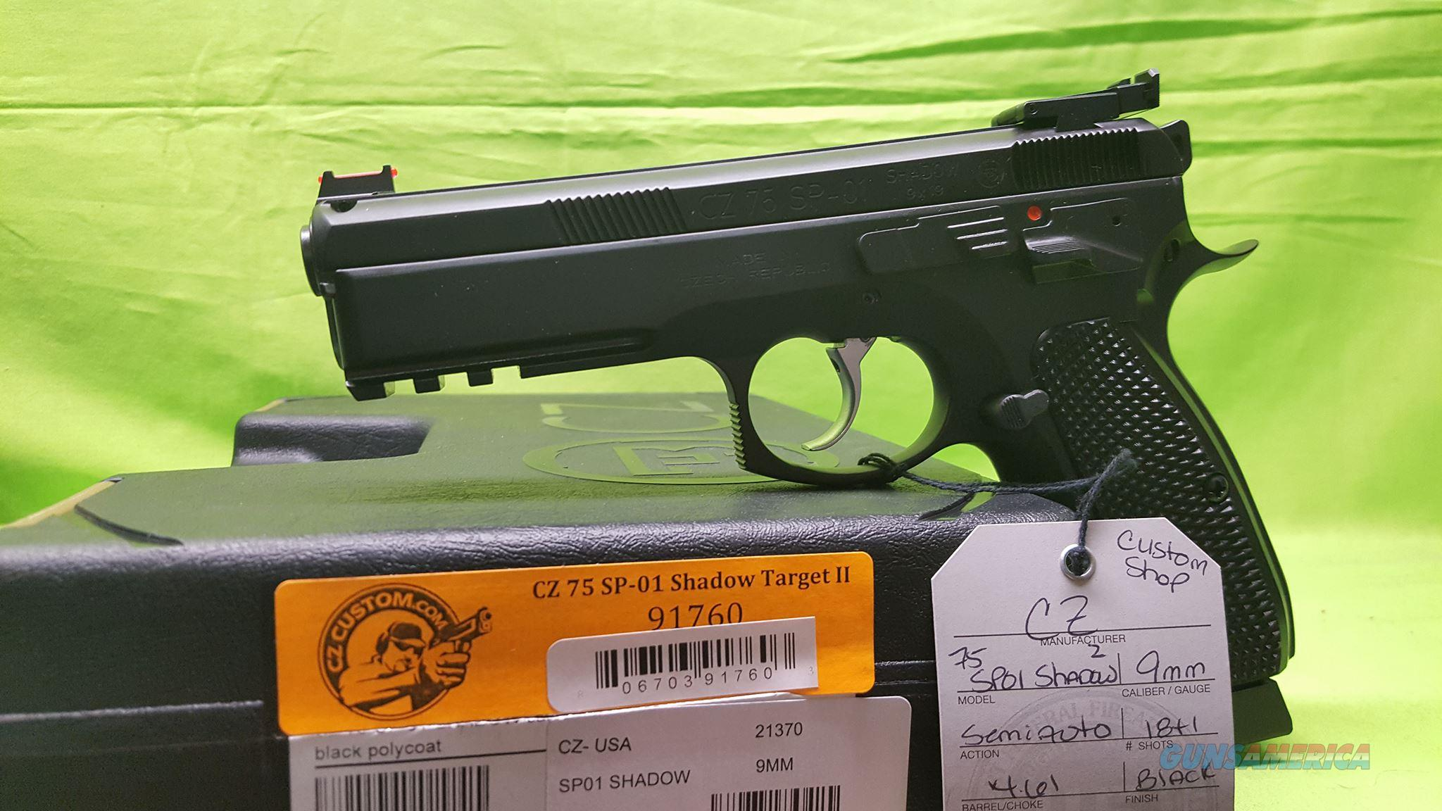 CZ 75 SP-01 SP01 SHADOW TACTICAL II 2 9MM 91760 9  Guns > Pistols > CZ Pistols